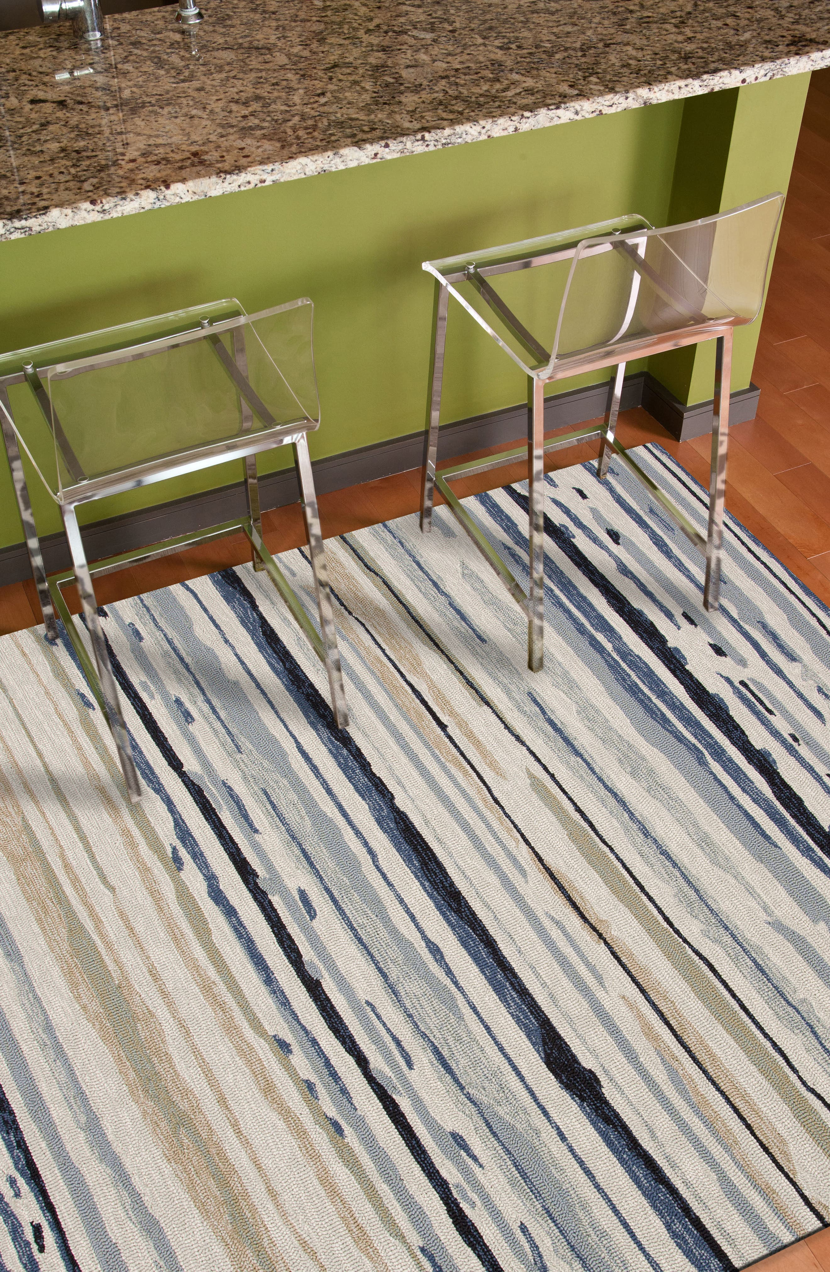 Spa Indoor/Outdoor Rug,                             Alternate thumbnail 5, color,                             NATURAL/ IVORY