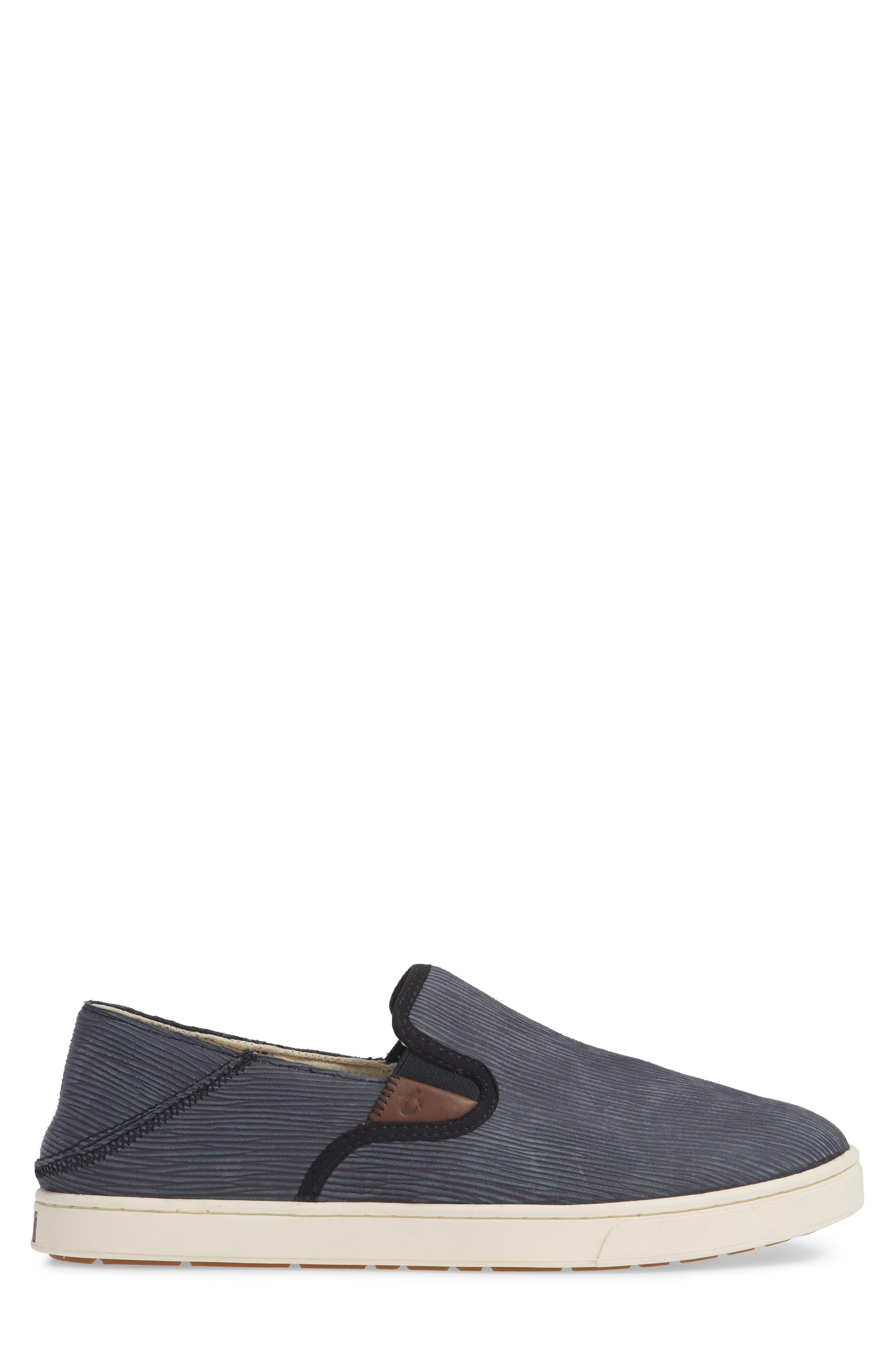 Kahu Kai Collapsible Slip-On Sneaker,                             Alternate thumbnail 3, color,                             DARK SHADOW/ OFF WHITE LEATHER
