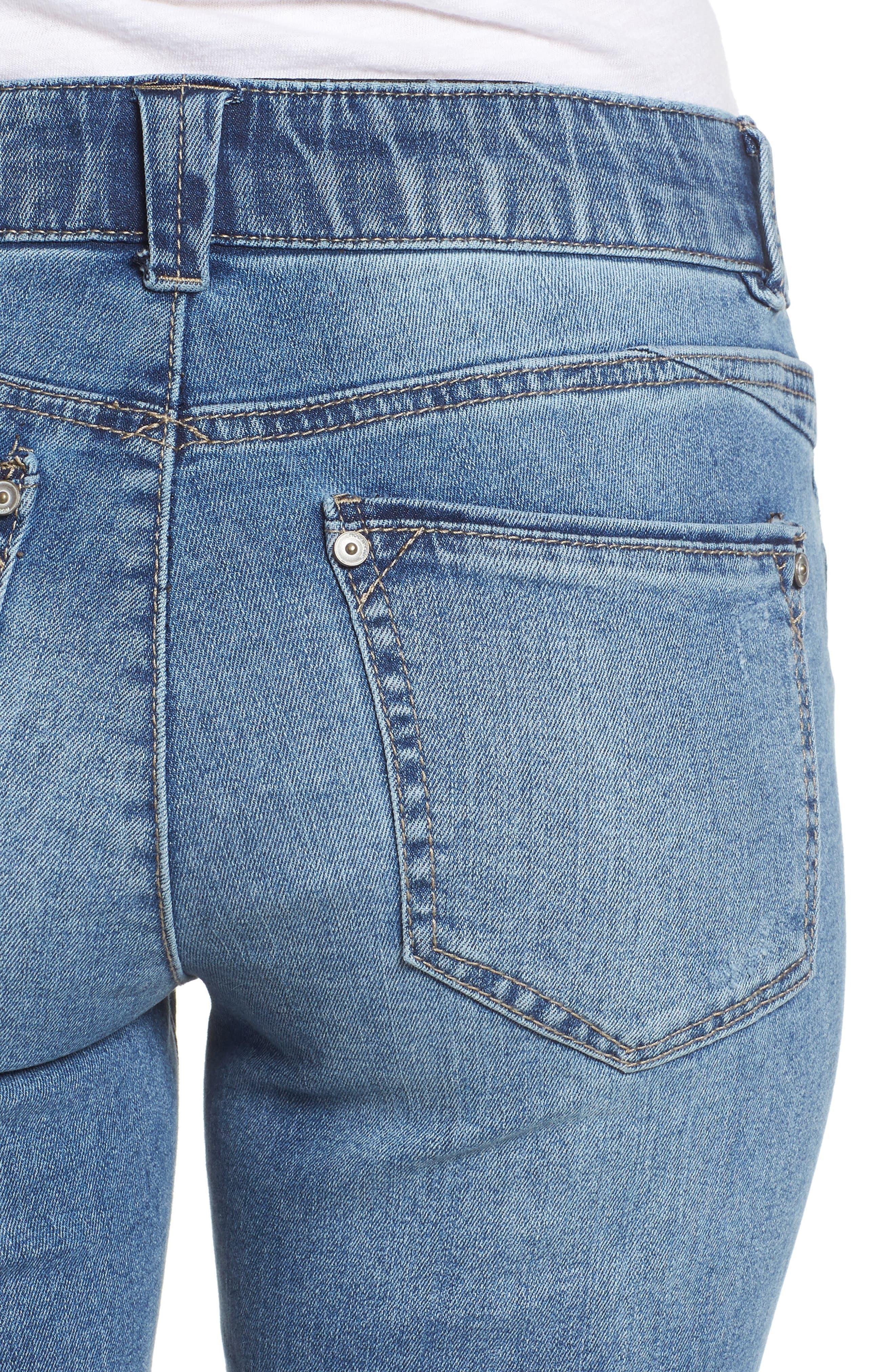 Ab-solution Ankle Skimmer Skinny Jeans Regular & Petite,                             Alternate thumbnail 6, color,                             458