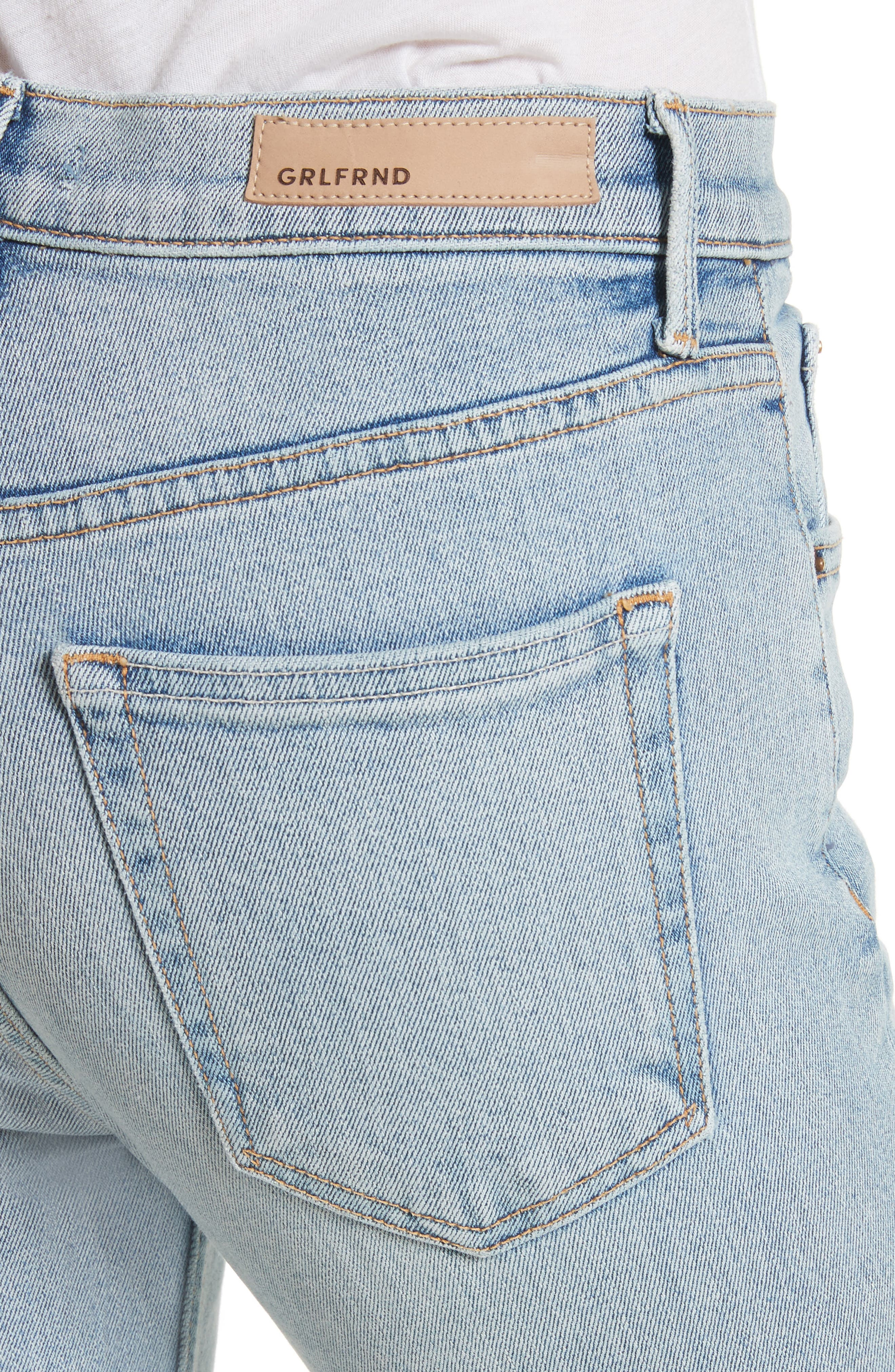 Karolina High Waist Skinny Jeans,                             Alternate thumbnail 4, color,                             TITANIUM