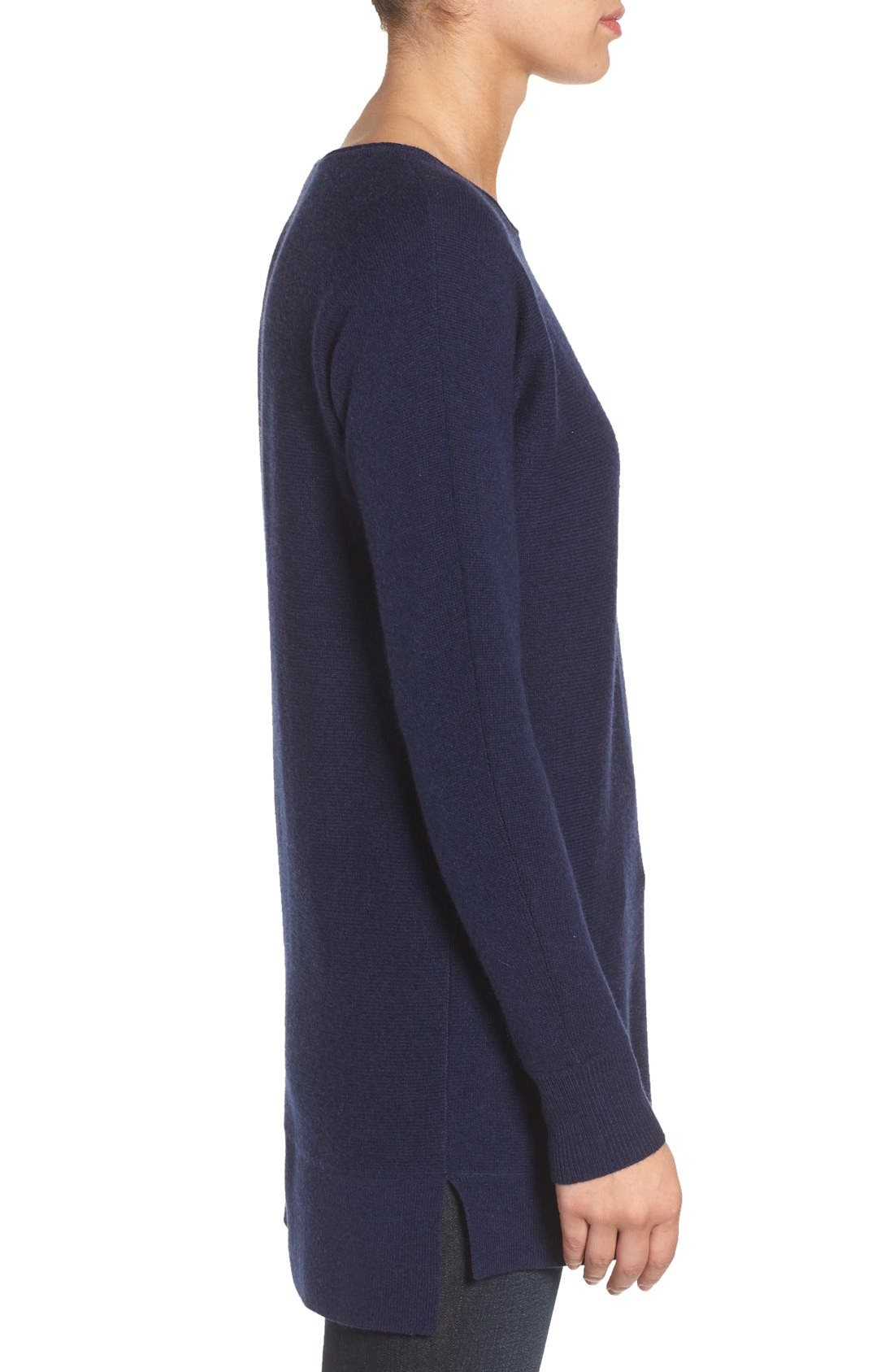 High/Low Wool & Cashmere Tunic Sweater,                             Alternate thumbnail 44, color,