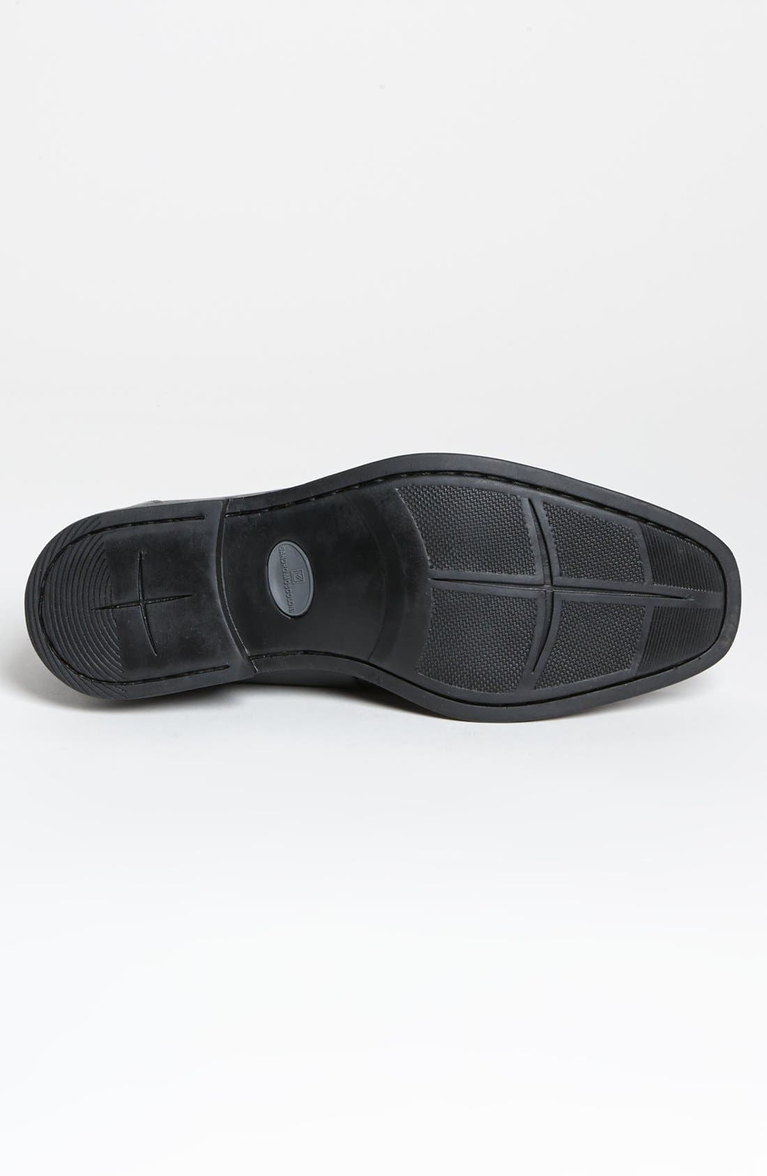 'Stuart' Penny Loafer,                             Alternate thumbnail 4, color,                             BLACK
