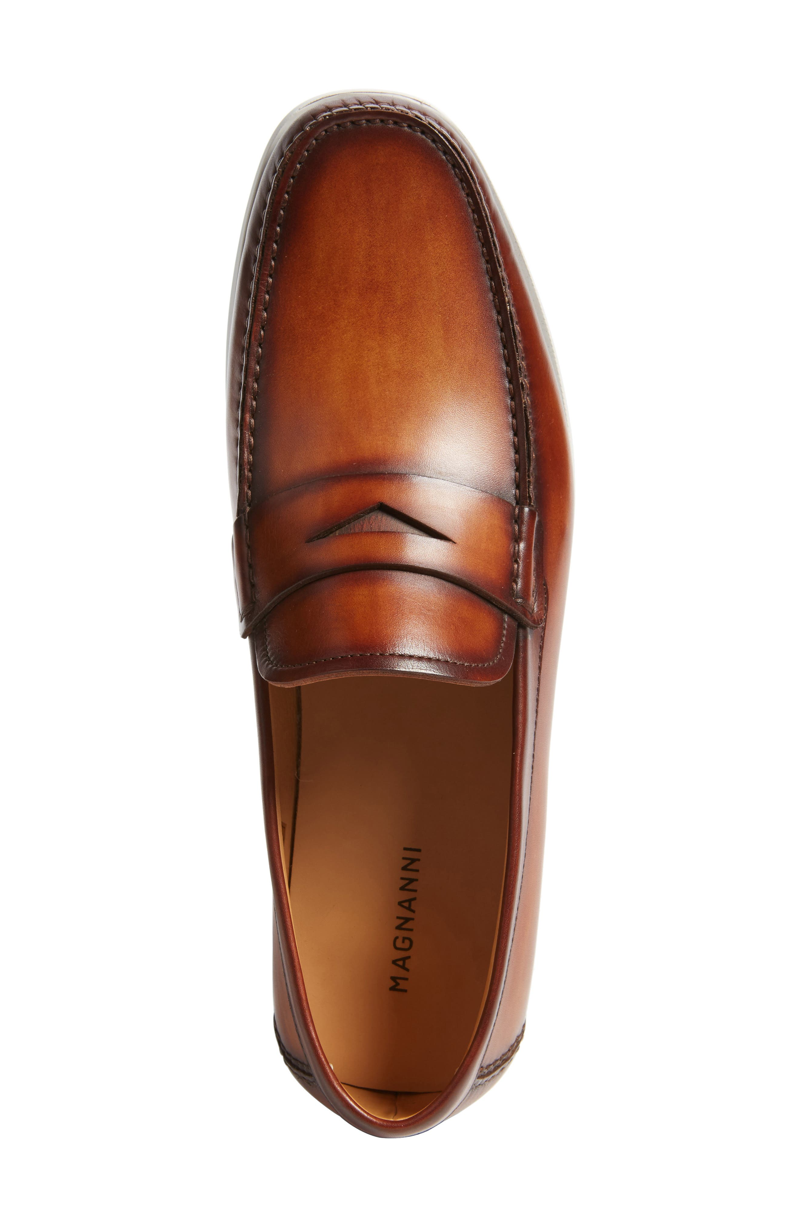 Laguna Penny Loafer,                             Alternate thumbnail 5, color,                             MID-BROWN LEATHER