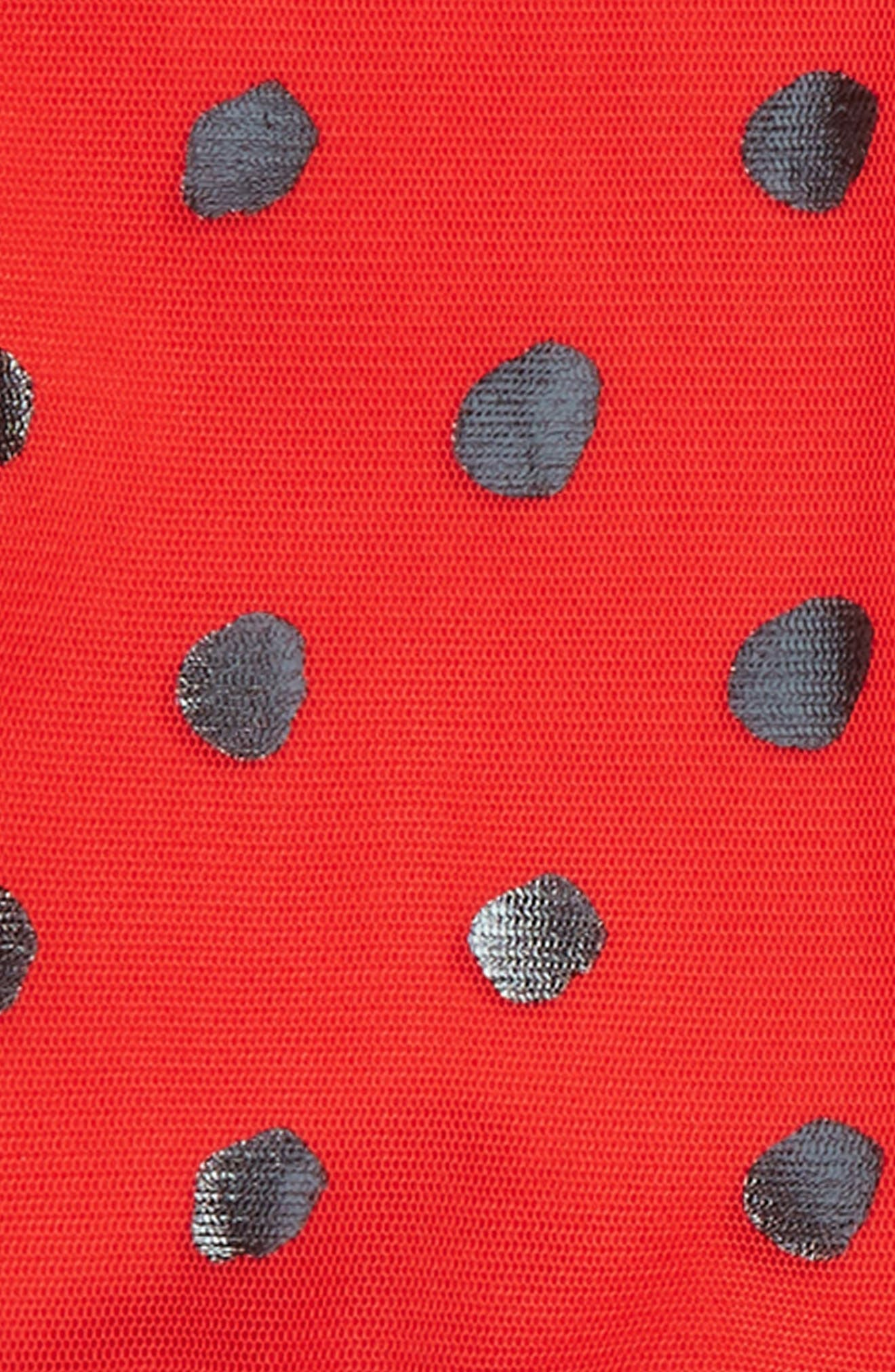 Mouse Dress & Wings Set,                             Alternate thumbnail 4, color,                             RED BLACK