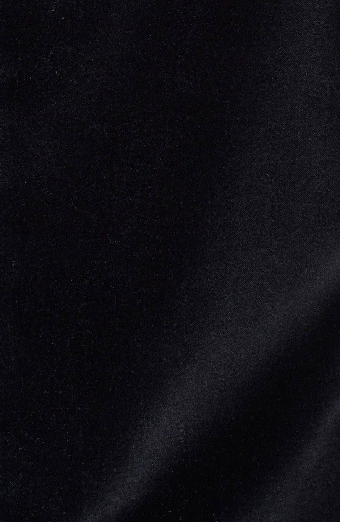 BOSS HUGO BOSS 'Keys' Trim Fit Velvet Blazer,                             Alternate thumbnail 3, color,                             001