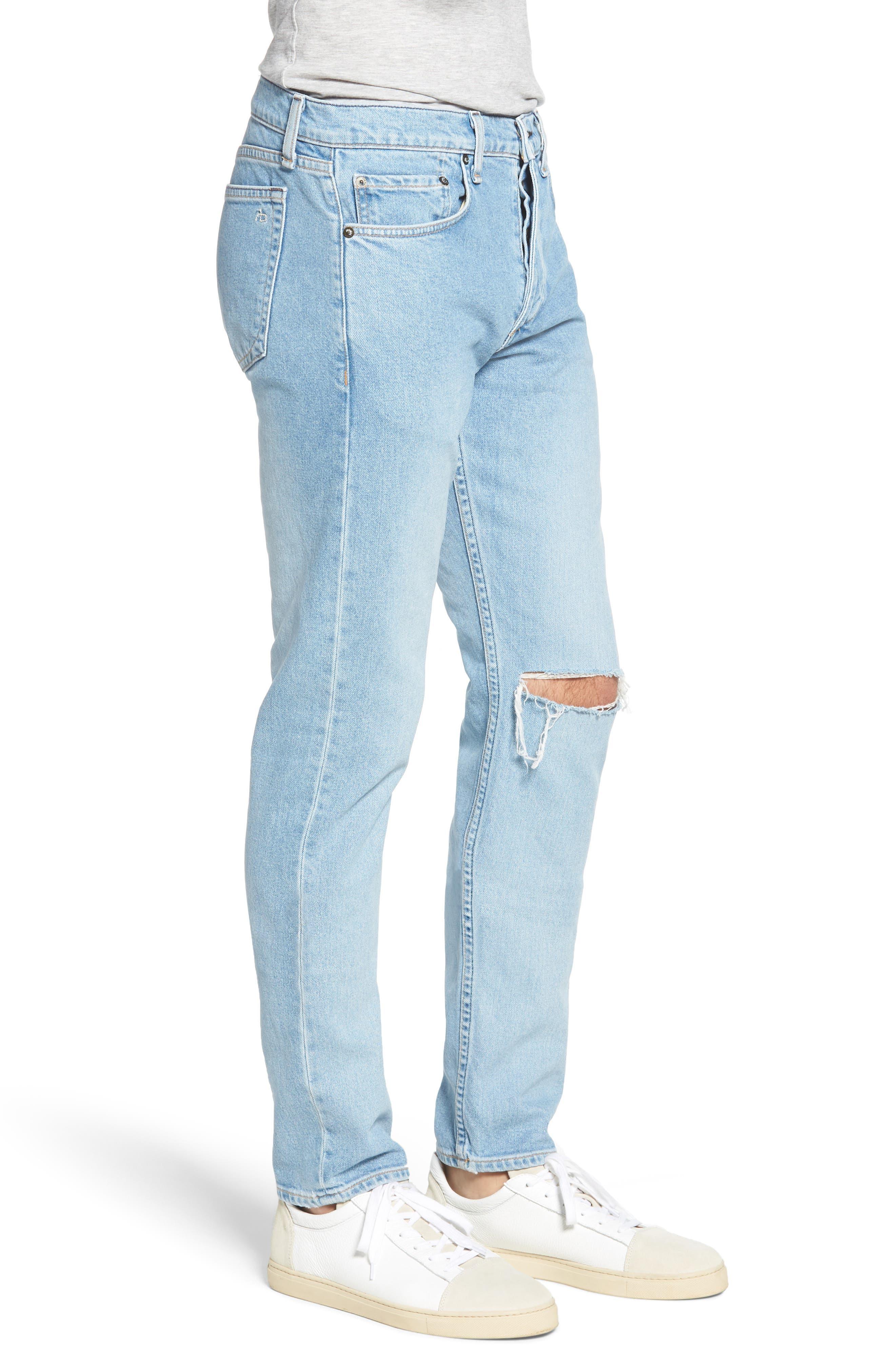 Fit 2 Slim Fit Jeans,                             Alternate thumbnail 3, color,                             MONTAUK W/ HOLE