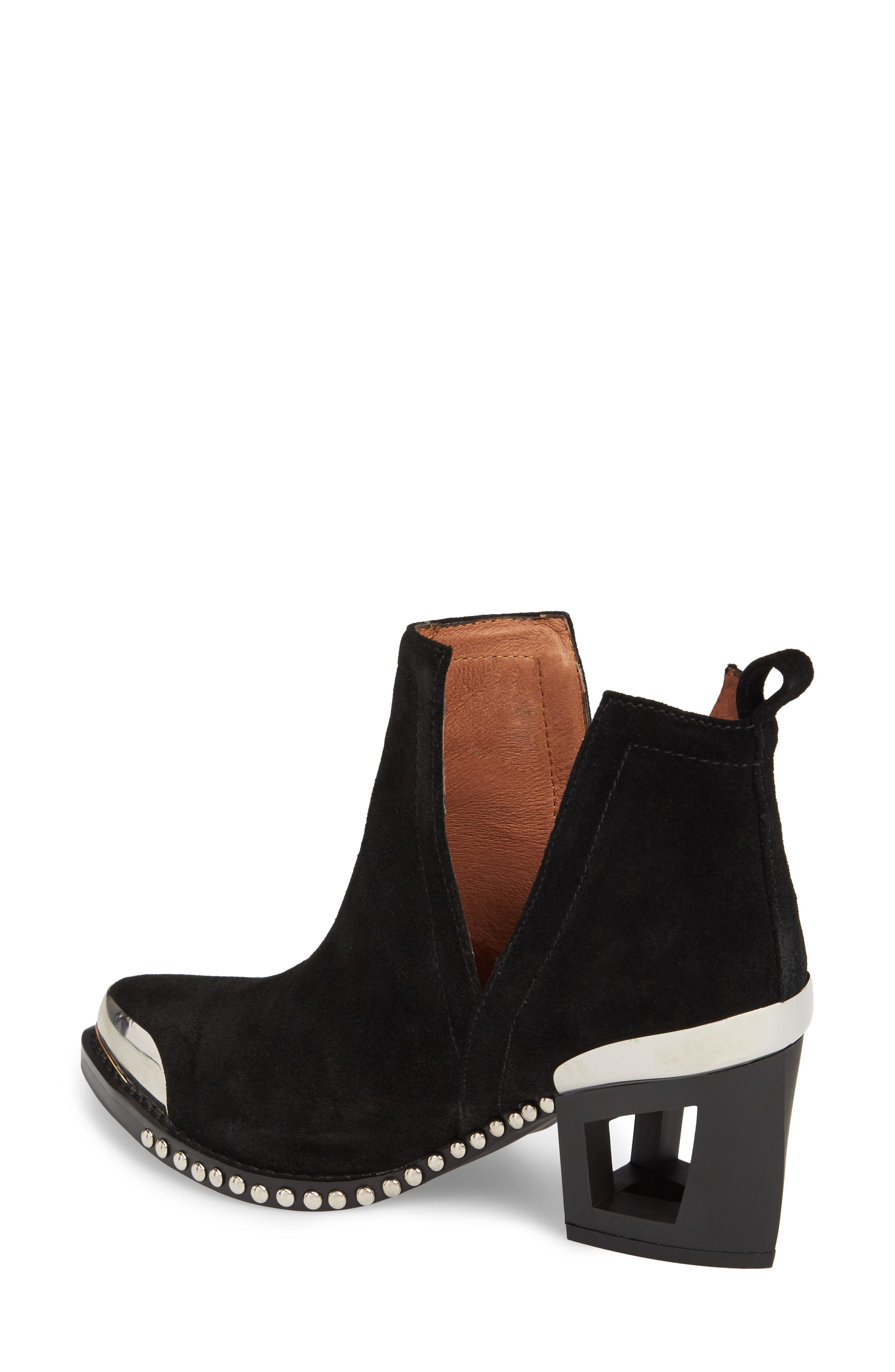 Optimum Studded Snake Textured Bootie,                             Alternate thumbnail 2, color,                             002