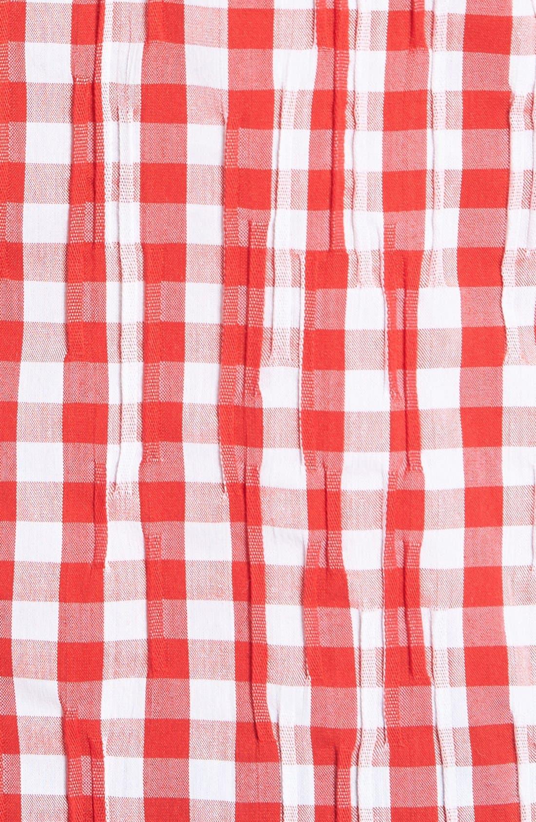 Crinkled Gingham Shirt,                             Alternate thumbnail 8, color,