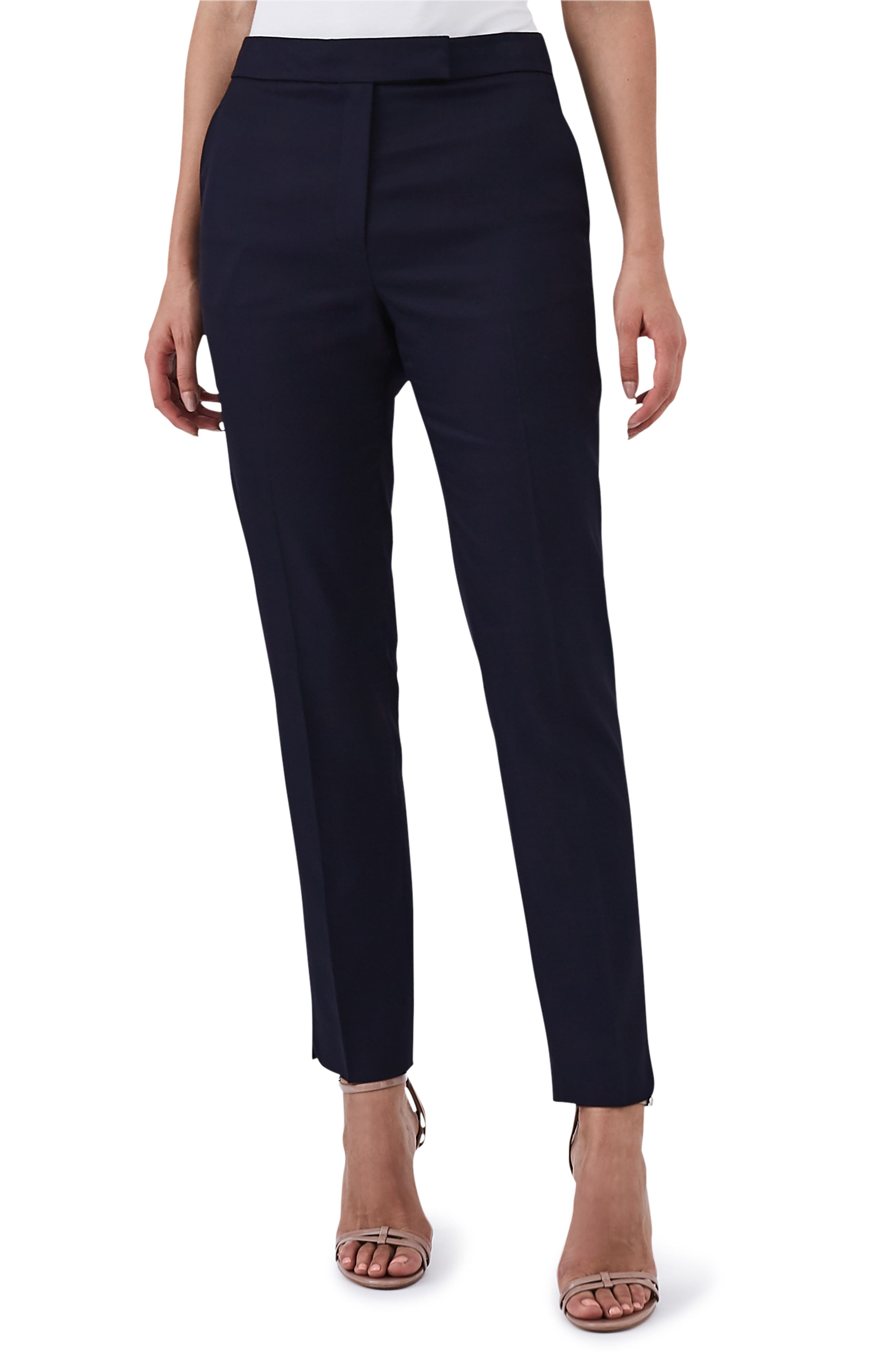 Flat Front Tally Trousers,                         Main,                         color, BLUE