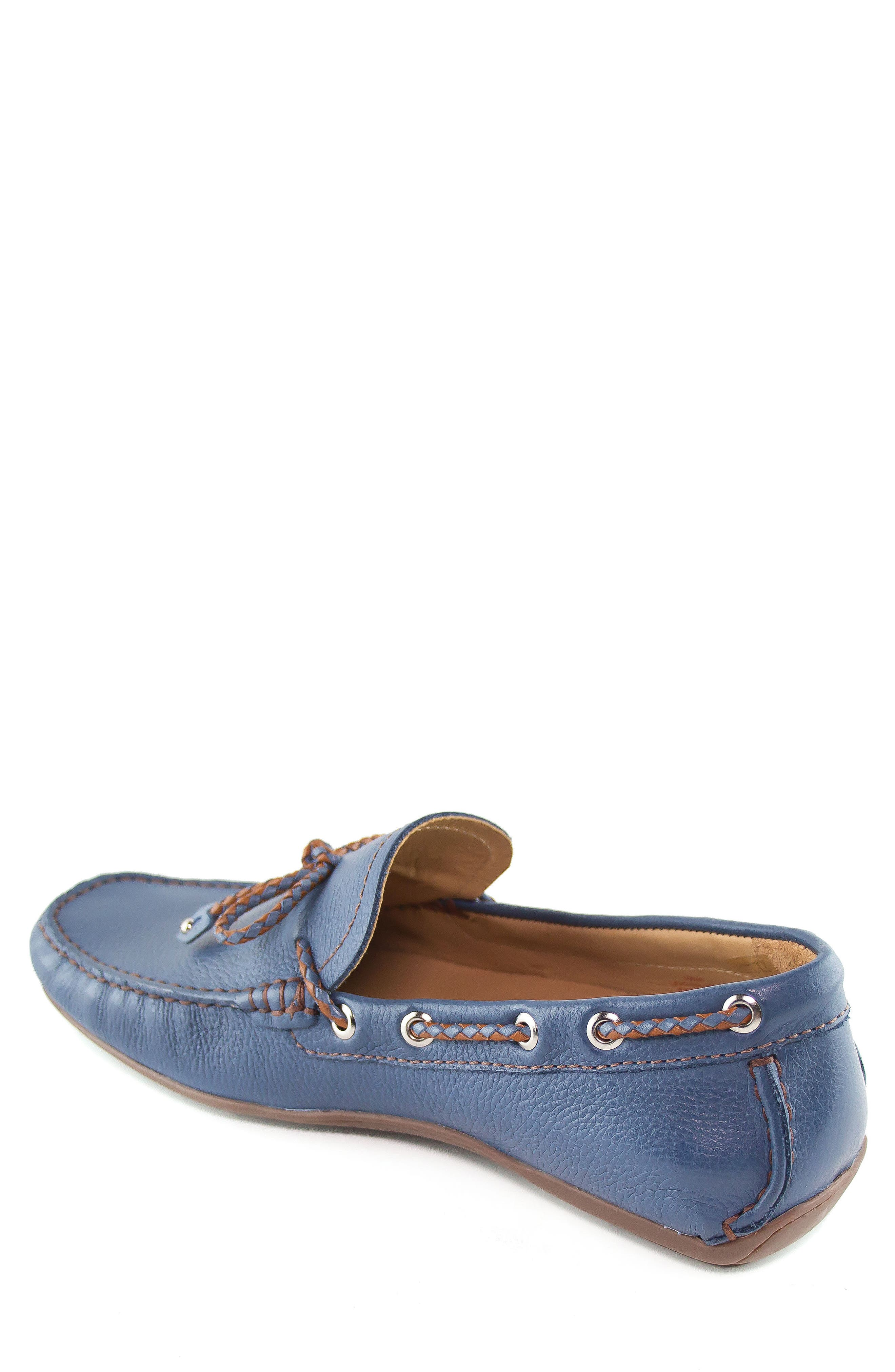 'Cypress' Moccasin,                             Alternate thumbnail 2, color,                             STEEL BLUE
