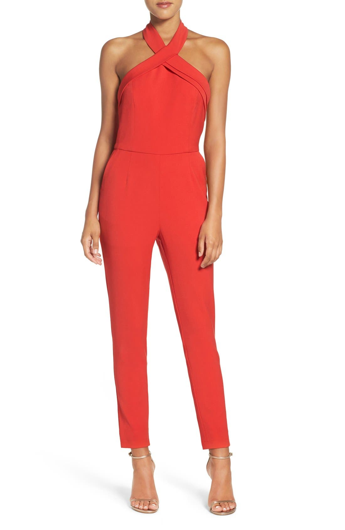 Halter Jumpsuit,                             Main thumbnail 2, color,