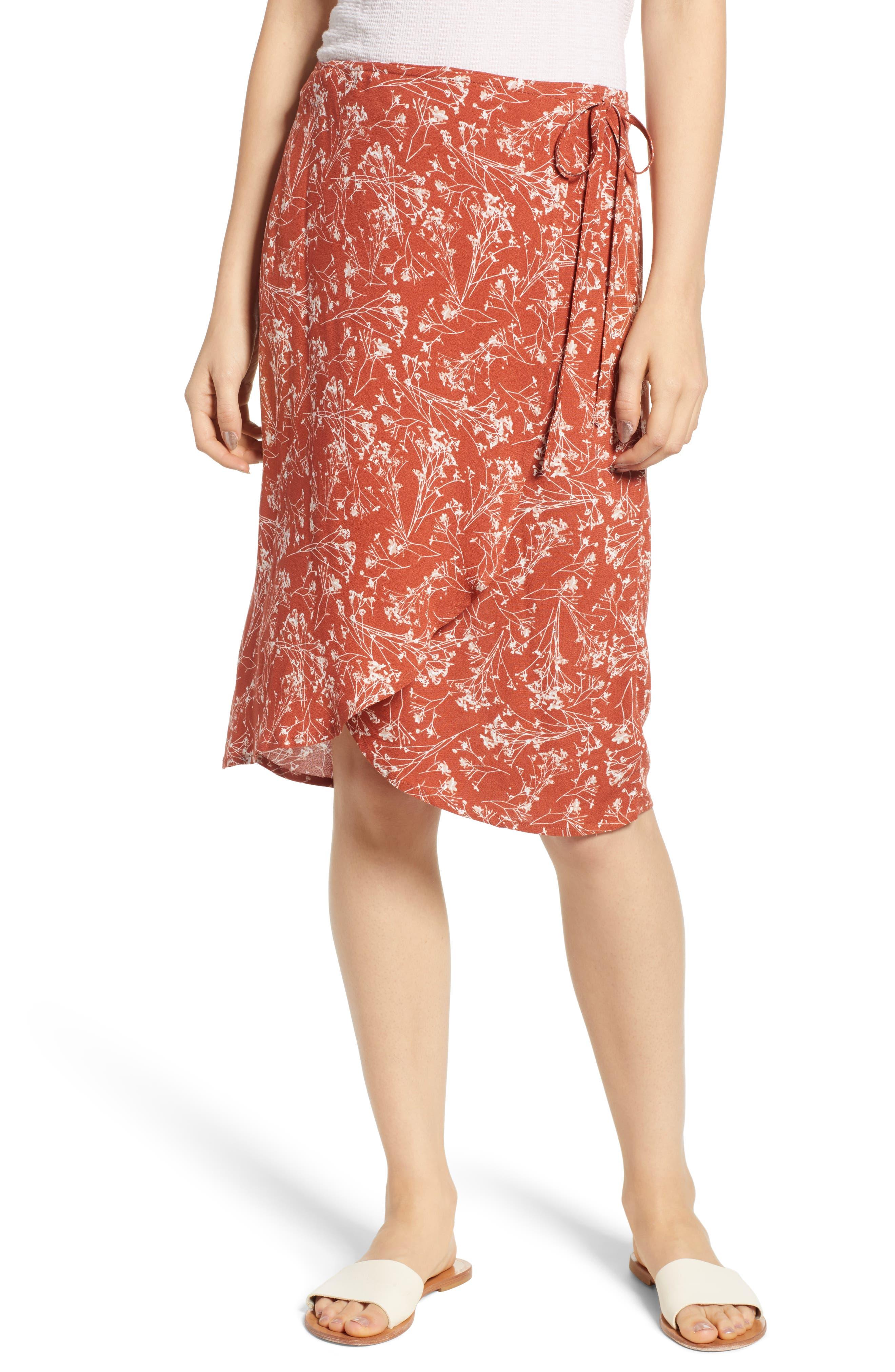 Lira Clothing Wrap Me Up Print Wrap Skirt