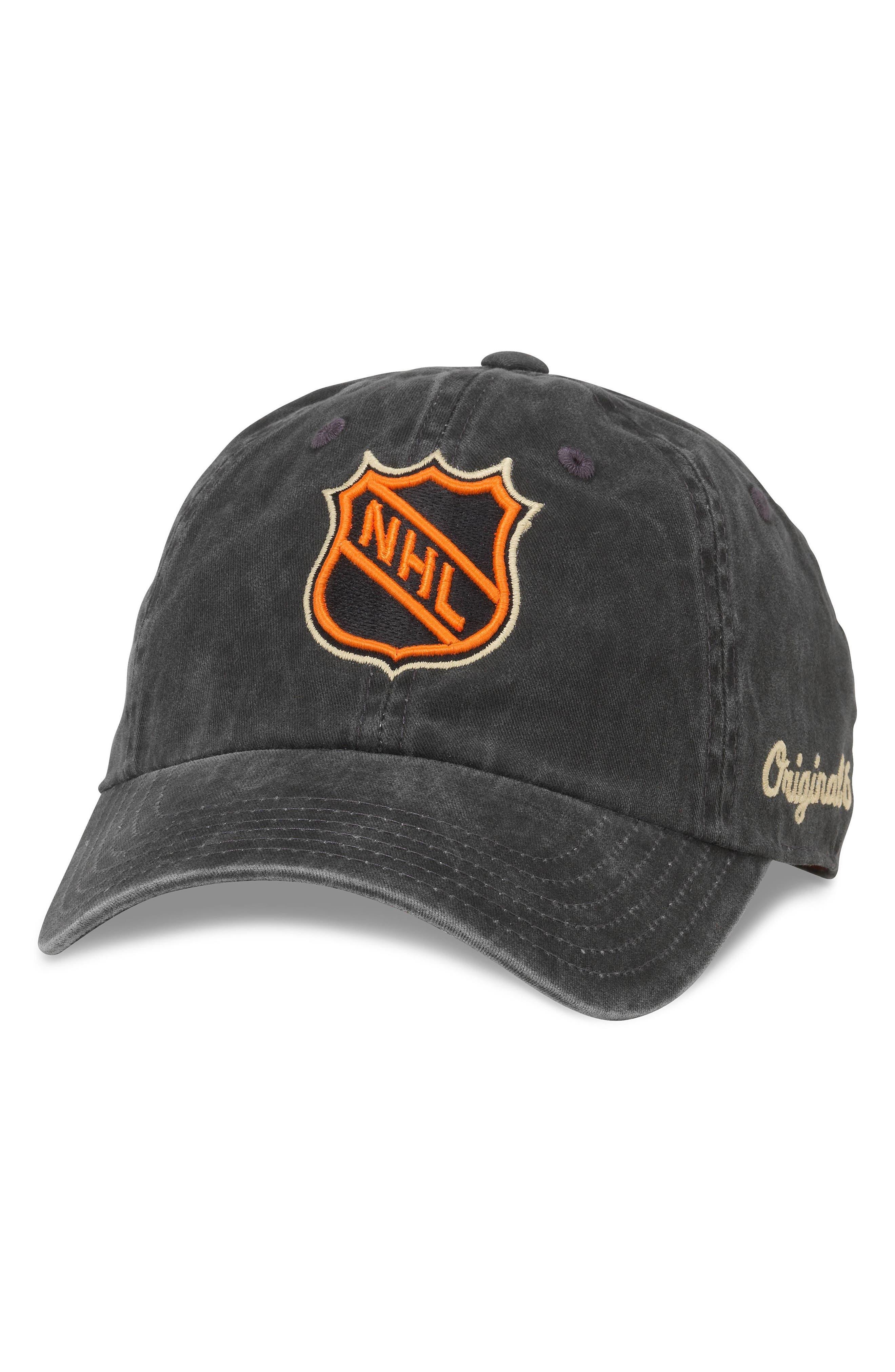 Raglan NHL Original 6 Logo Cap,                             Main thumbnail 1, color,                             001