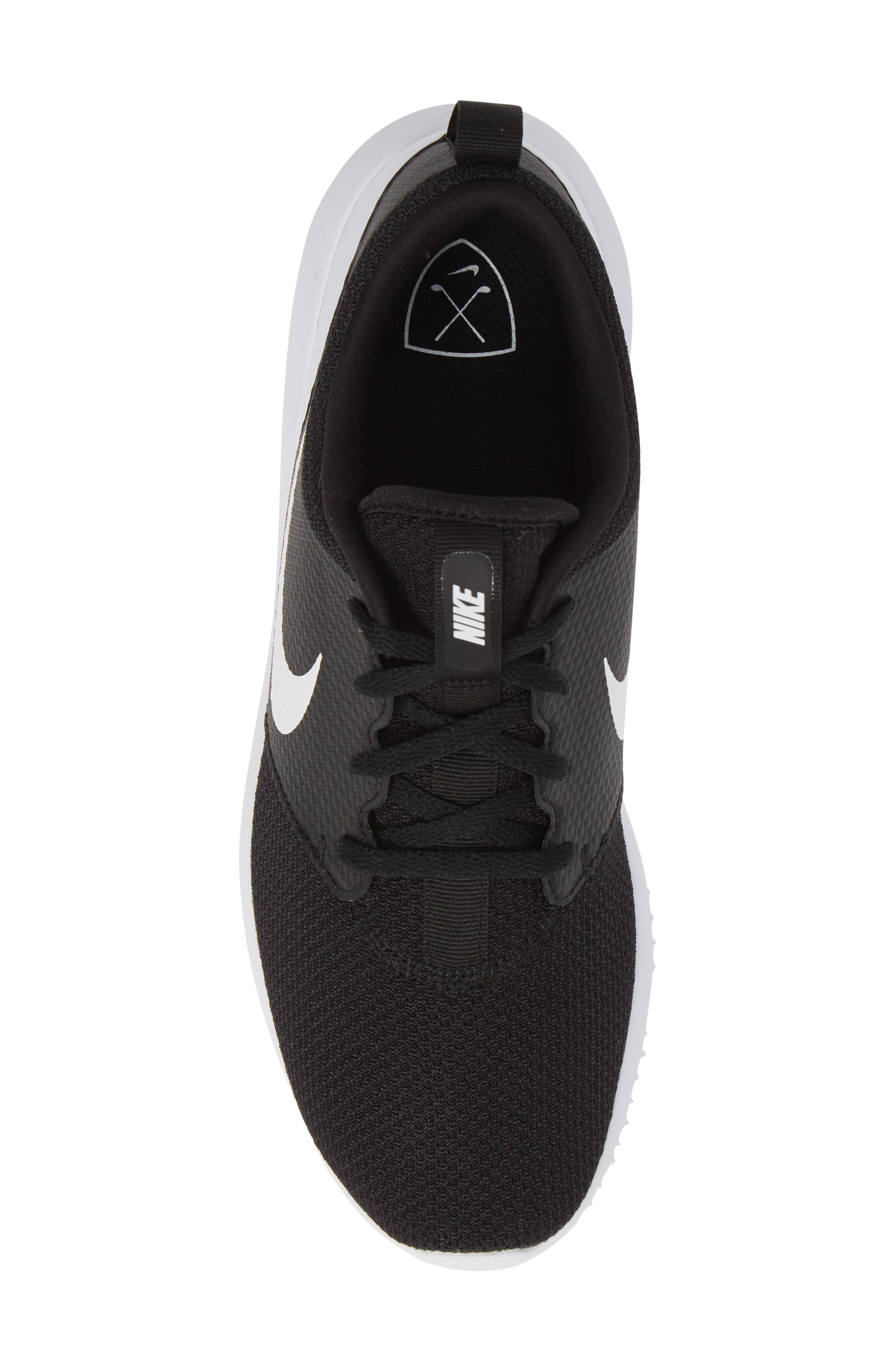 Roshe Golf Shoe,                             Alternate thumbnail 5, color,                             BLACK/ WHITE