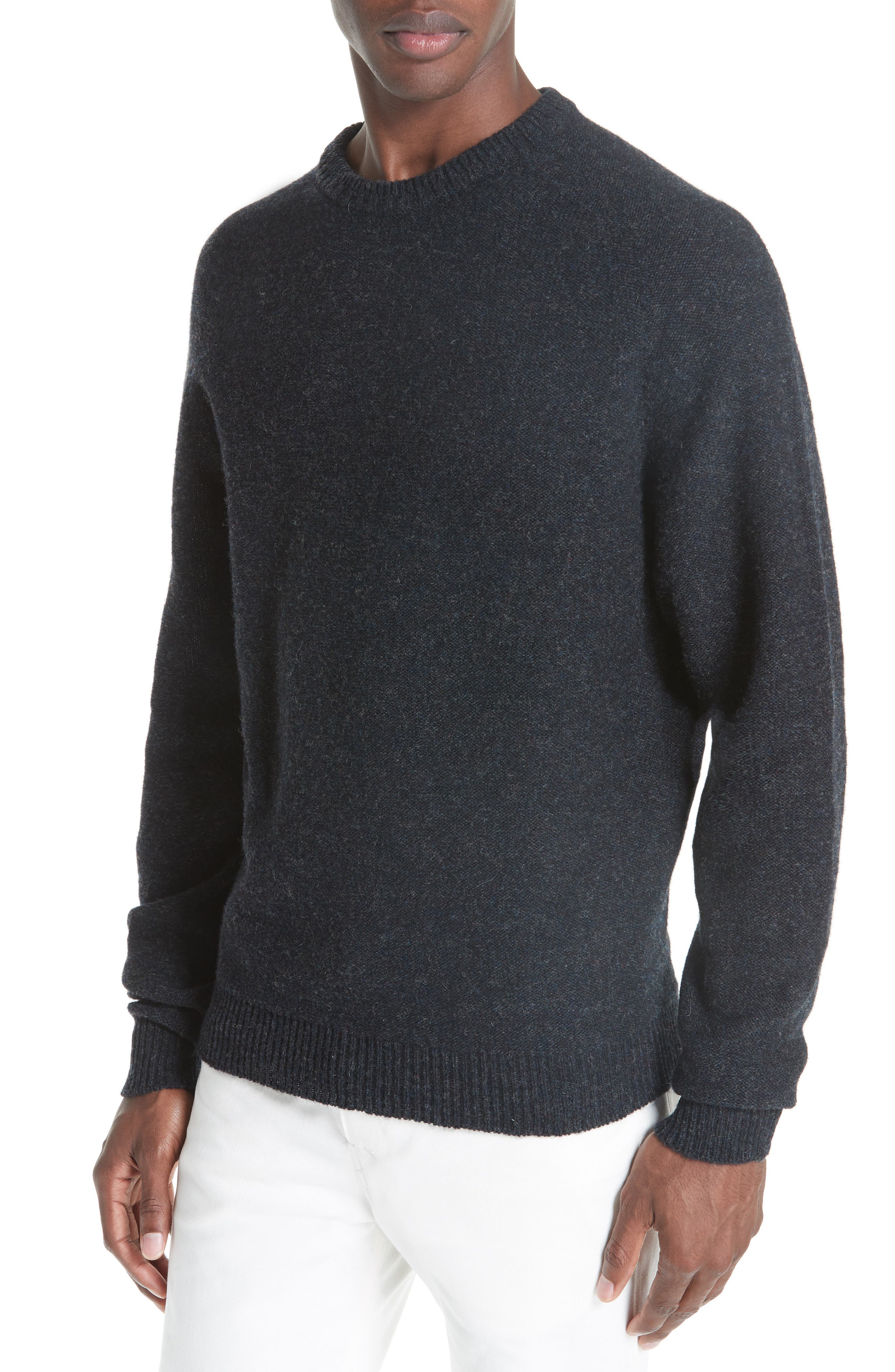 Crew Seamless Merino Sweater,                             Alternate thumbnail 4, color,                             ANTHRACITE