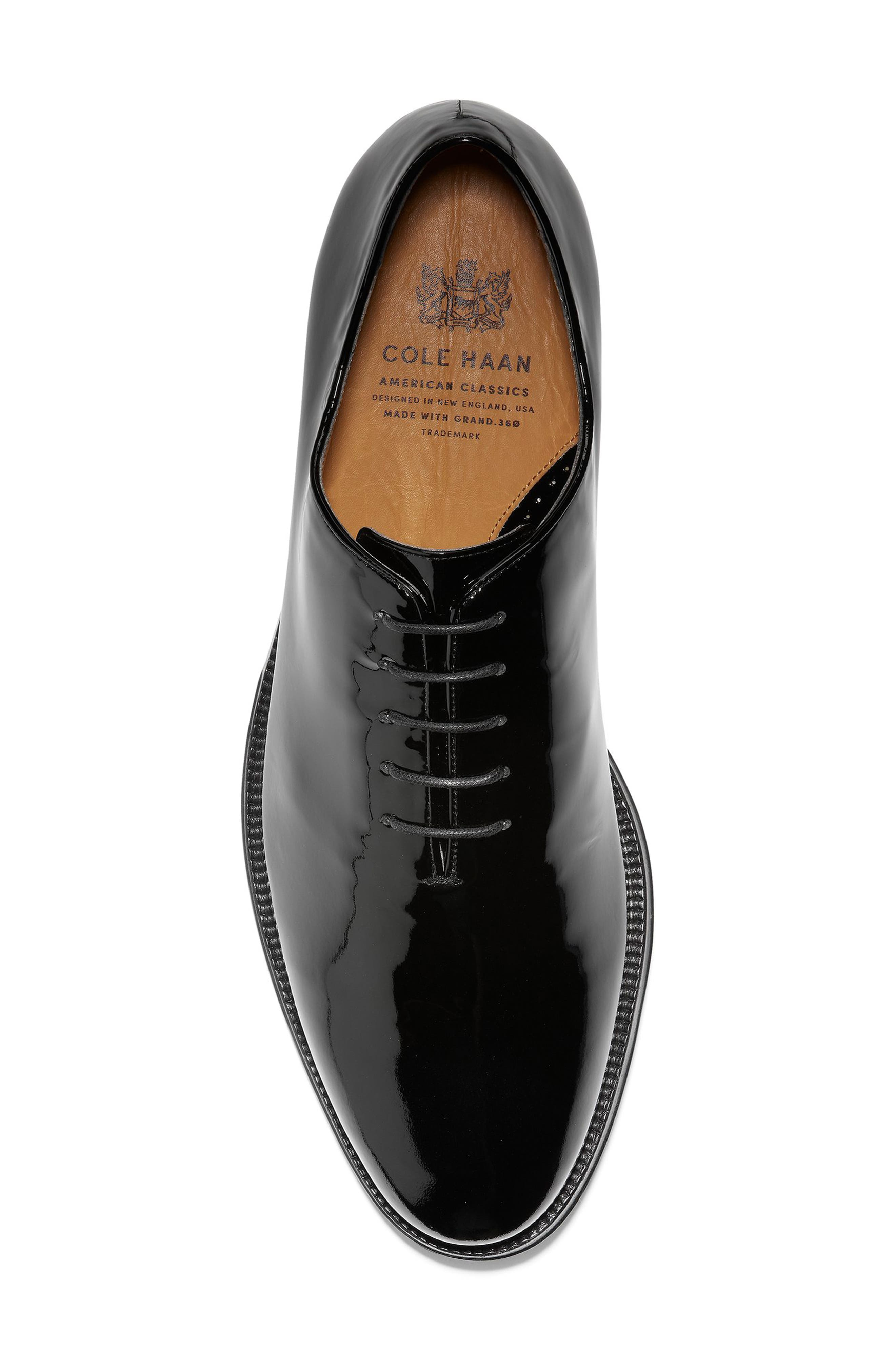 American Classics Grammercy Whole Cut Shoe,                             Alternate thumbnail 5, color,                             BLACK PATENT LEATHER