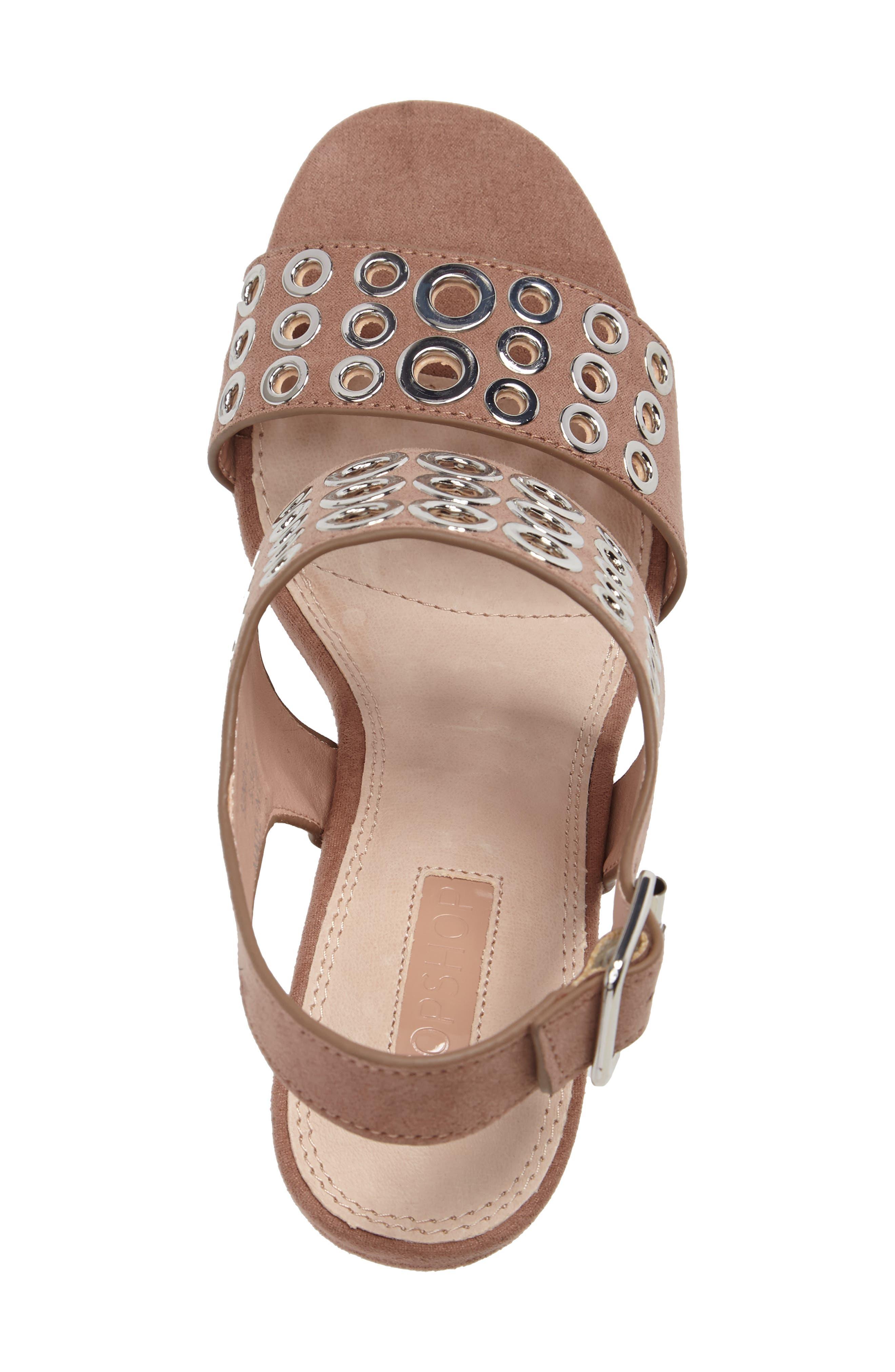 Nadia Rivet Block Heel Sandal,                             Alternate thumbnail 6, color,