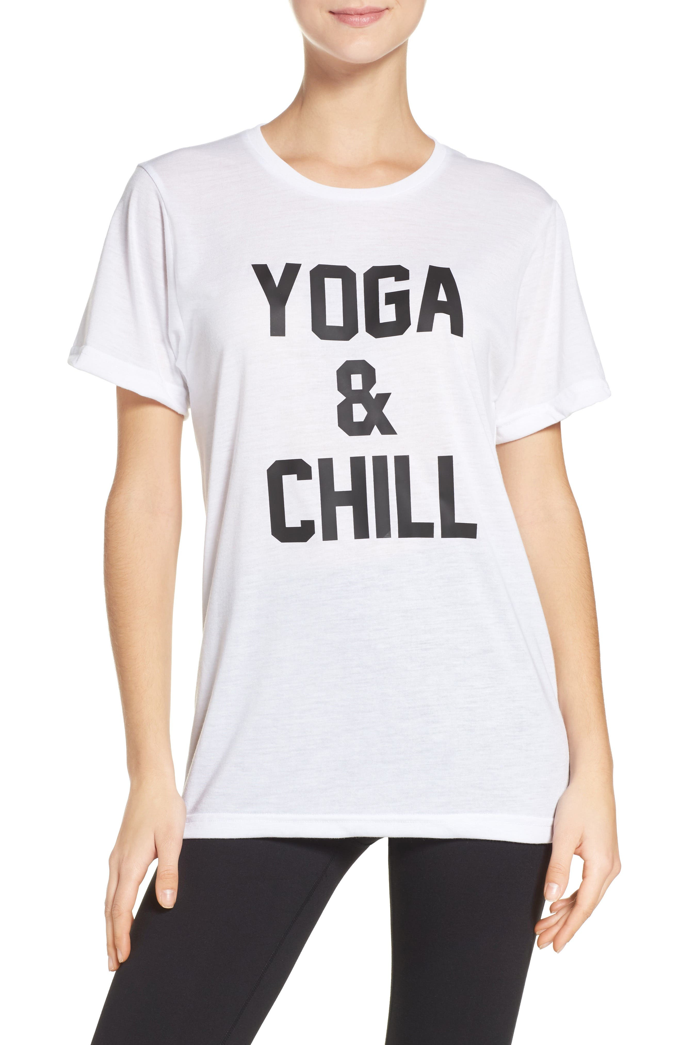 Yoga & Chill Tee,                         Main,                         color, 100