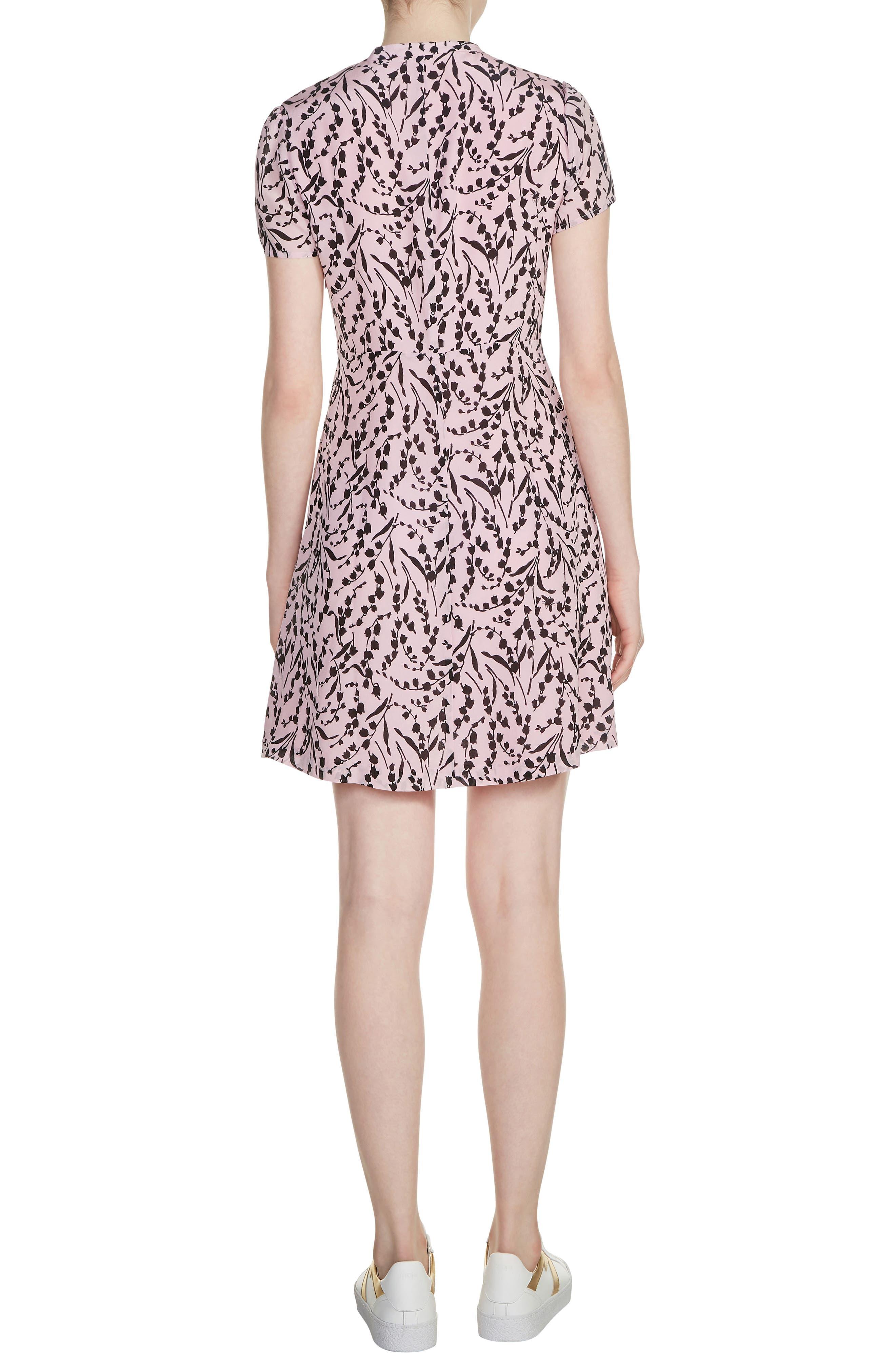 Bow Neck Silk Dress,                             Alternate thumbnail 2, color,                             650