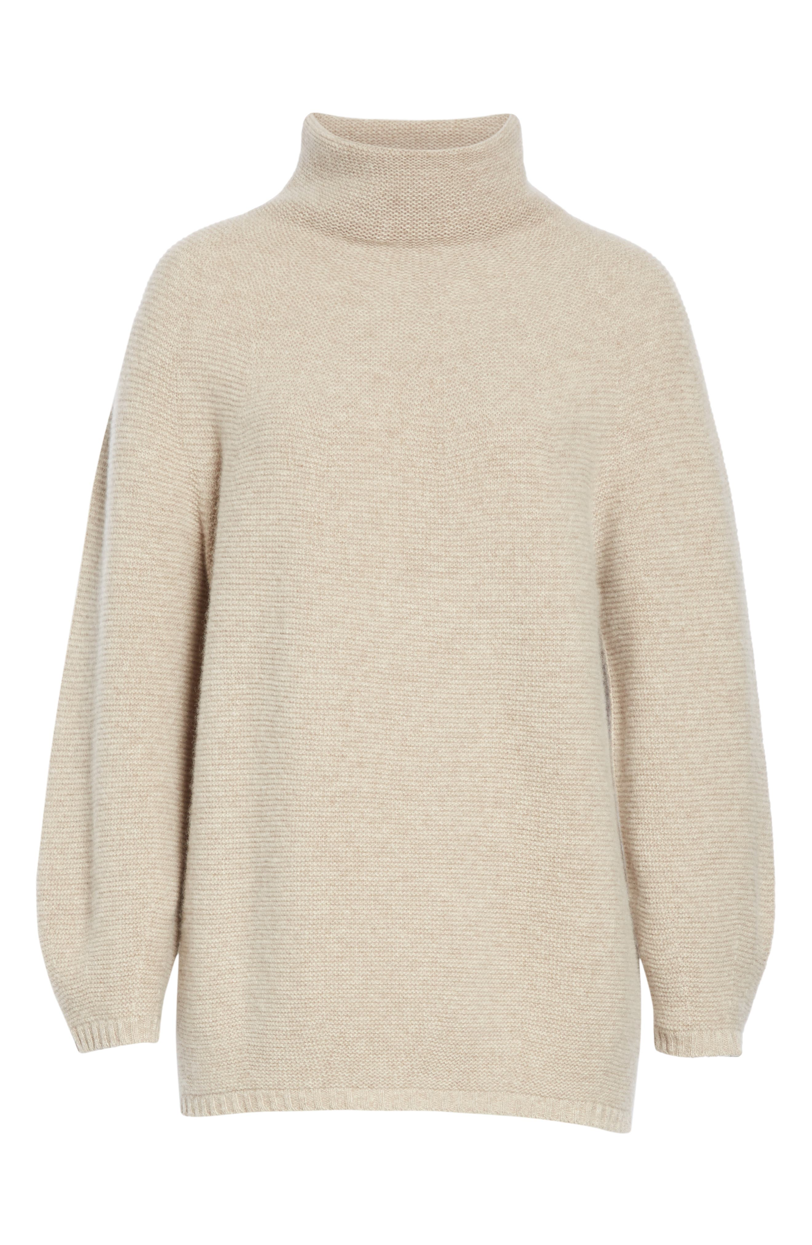 MAX MARA,                             Etrusco Wool & Cashmere Turtleneck Sweater,                             Alternate thumbnail 6, color,                             050