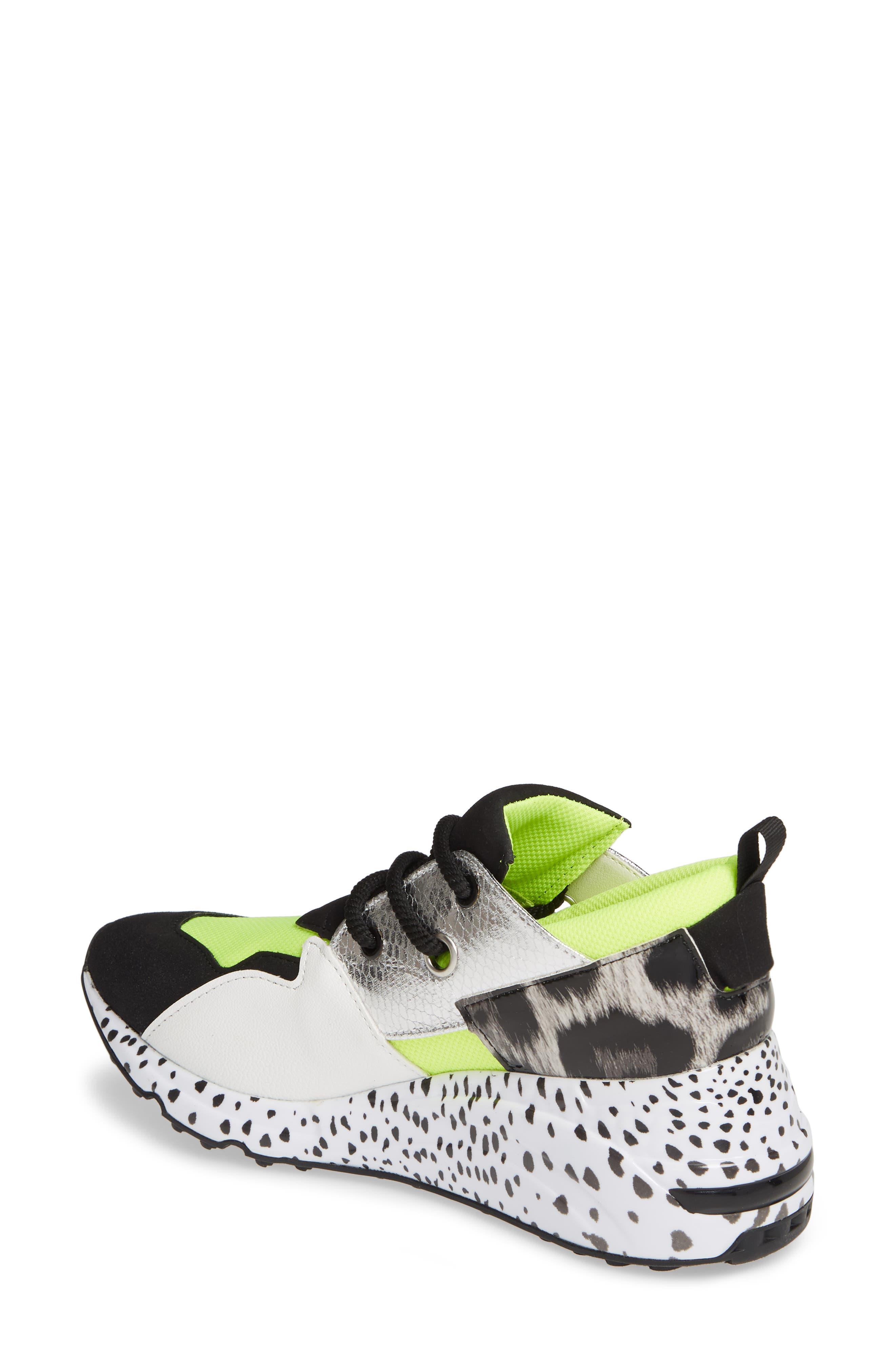Cliff Sneaker,                             Alternate thumbnail 2, color,                             NEON GREEN