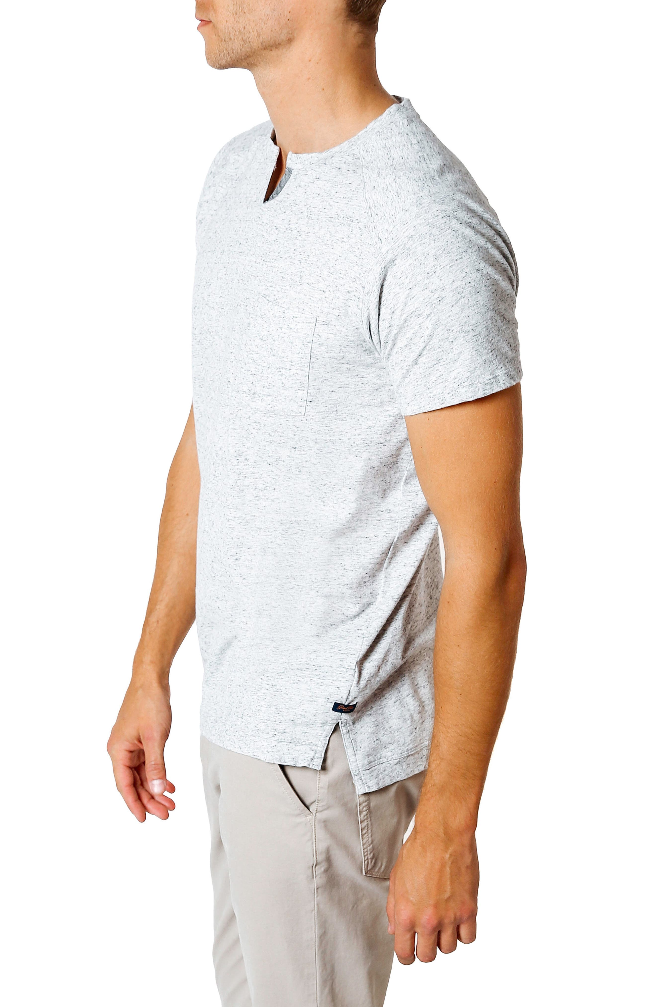 Slim Fit T-Shirt,                             Alternate thumbnail 3, color,                             GREY HEATHER