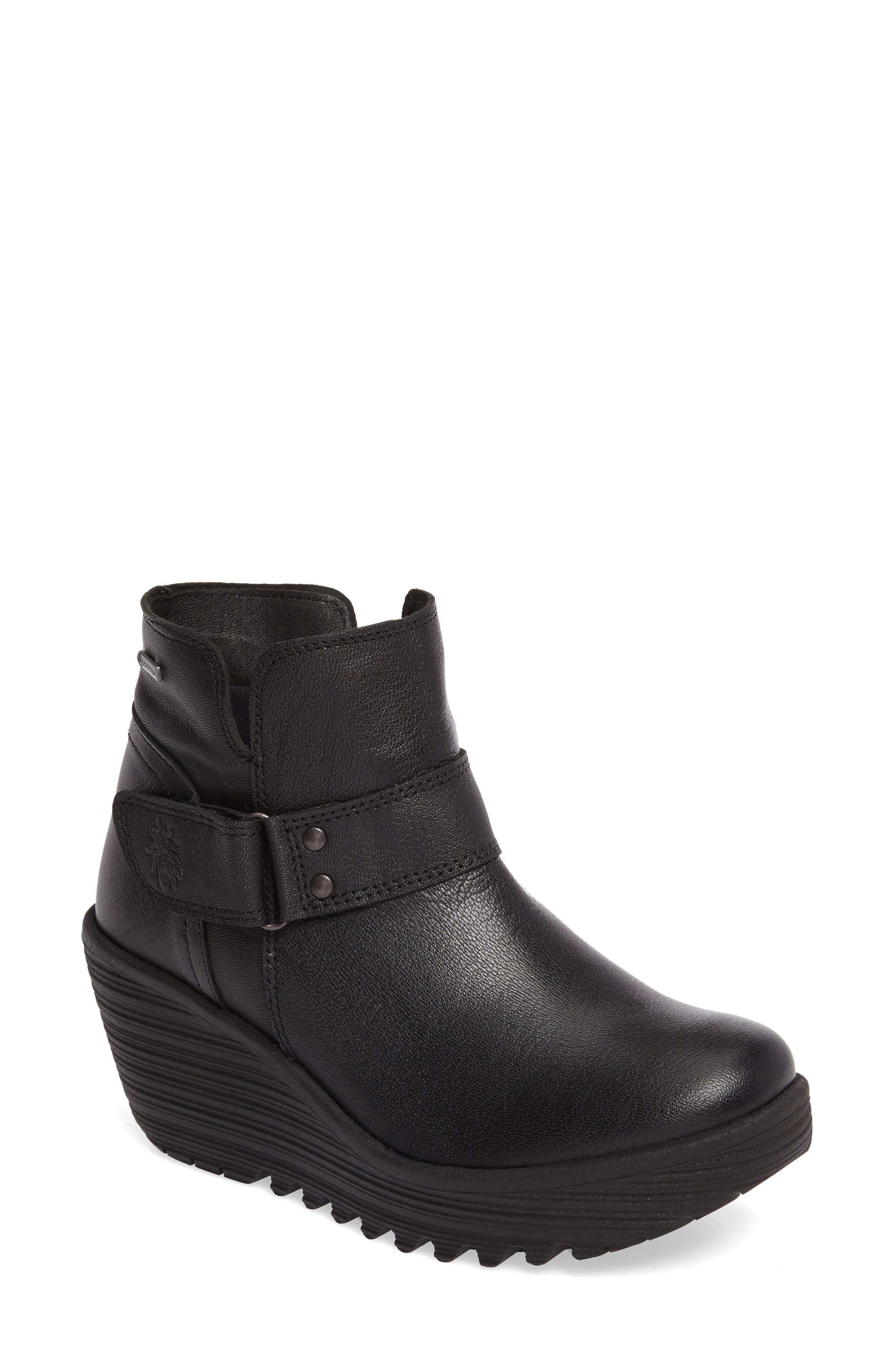 Yock Waterproof Gore-Tex<sup>®</sup> Wedge Boot,                         Main,                         color, 001