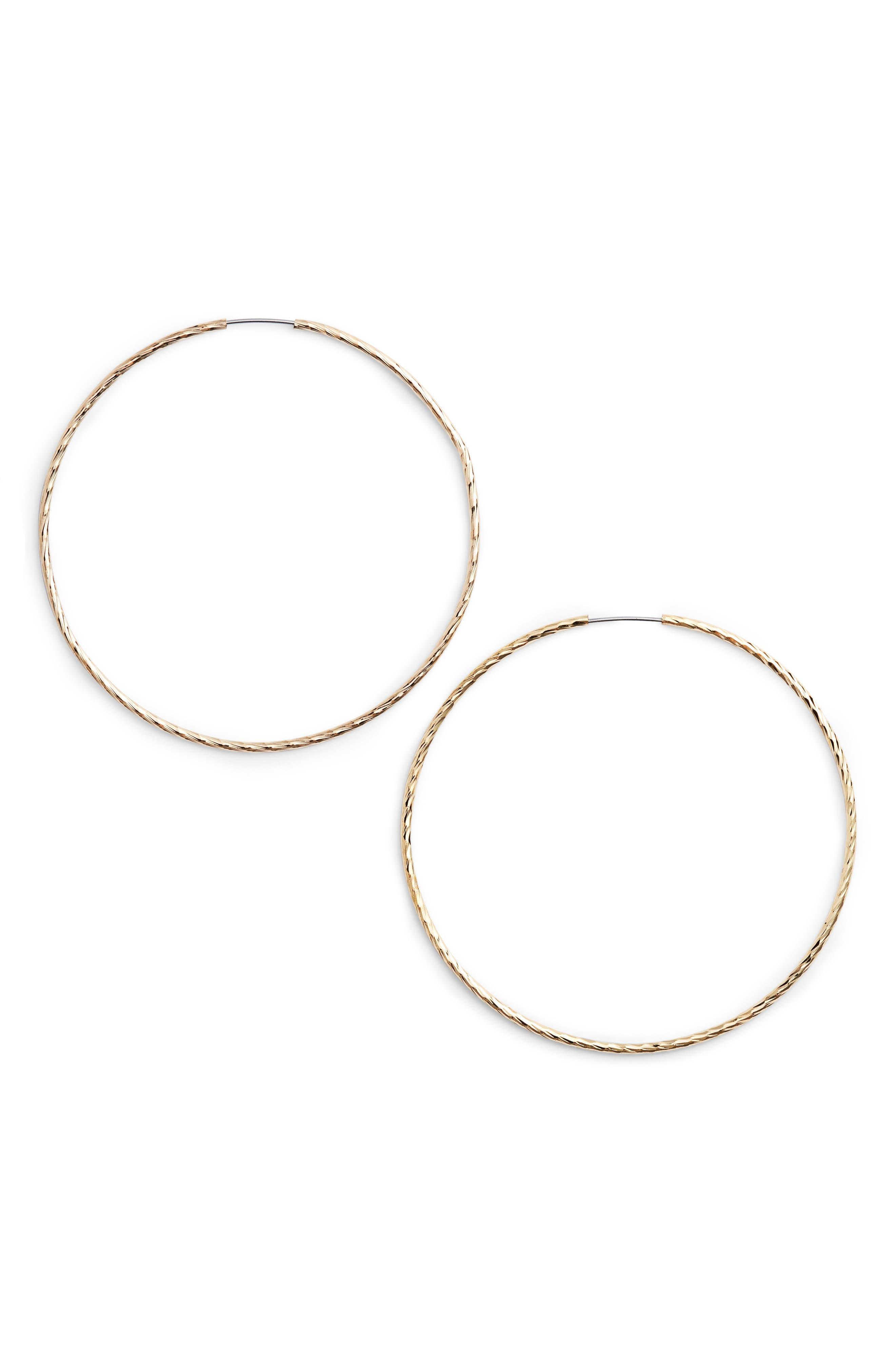 Factor Hoop Earrings,                         Main,                         color, 710