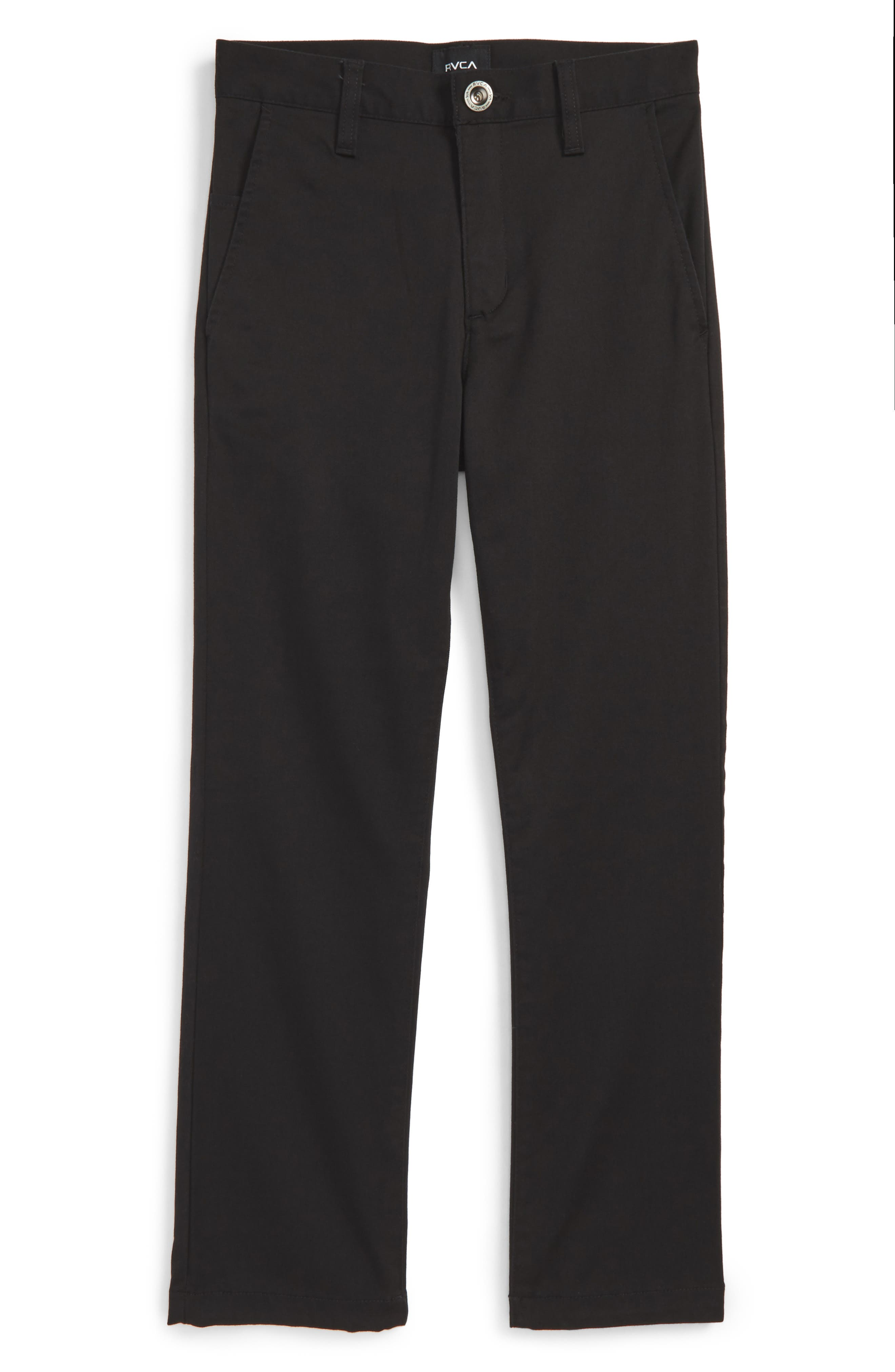'Weekday' Stretch Chinos,                         Main,                         color, BLACK