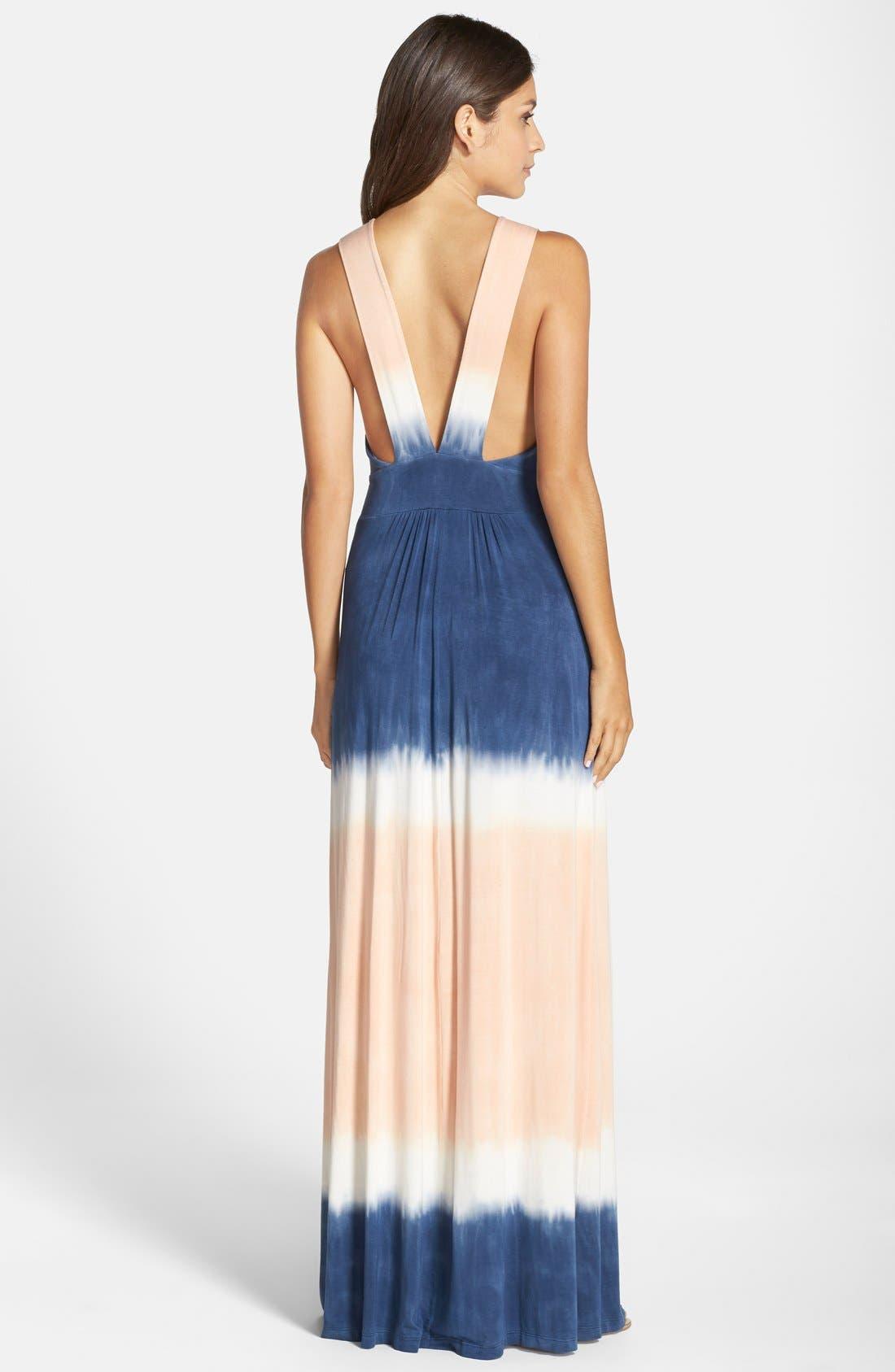 Tie Dye Sleeveless Maxi Dress,                             Alternate thumbnail 8, color,                             400