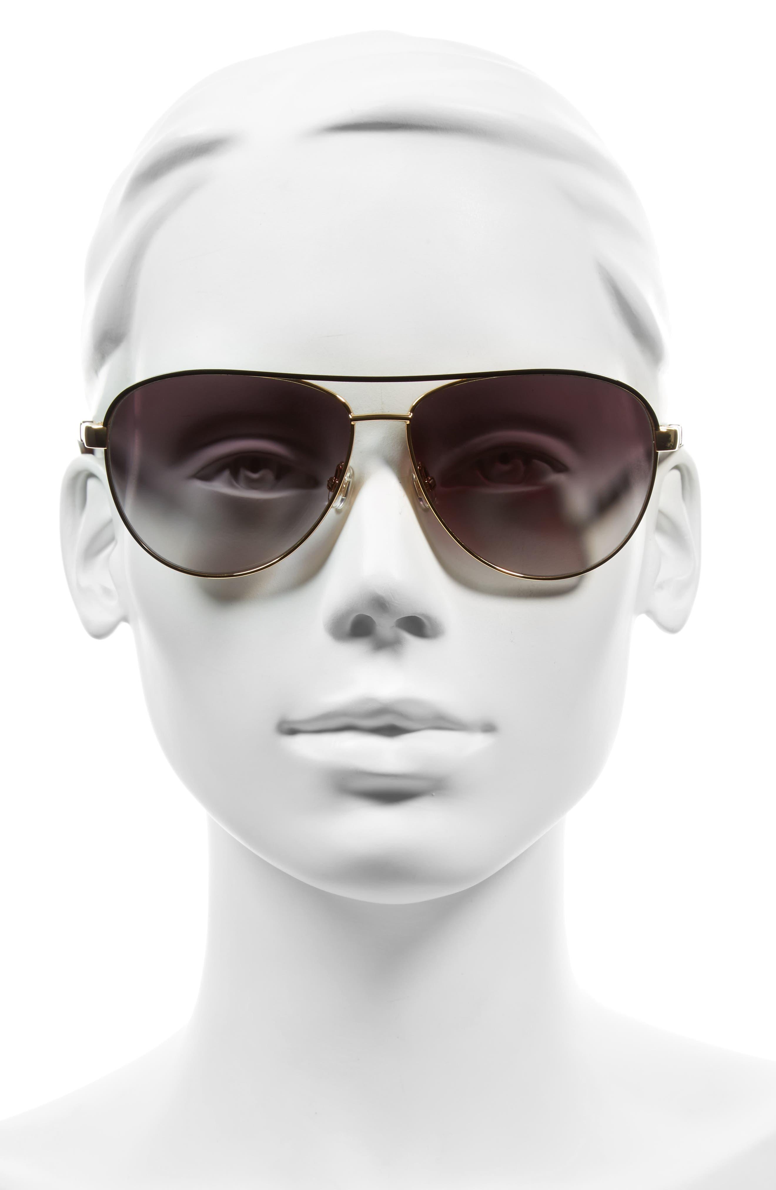 emilyann 59mm aviator sunglasses,                             Alternate thumbnail 2, color,                             710