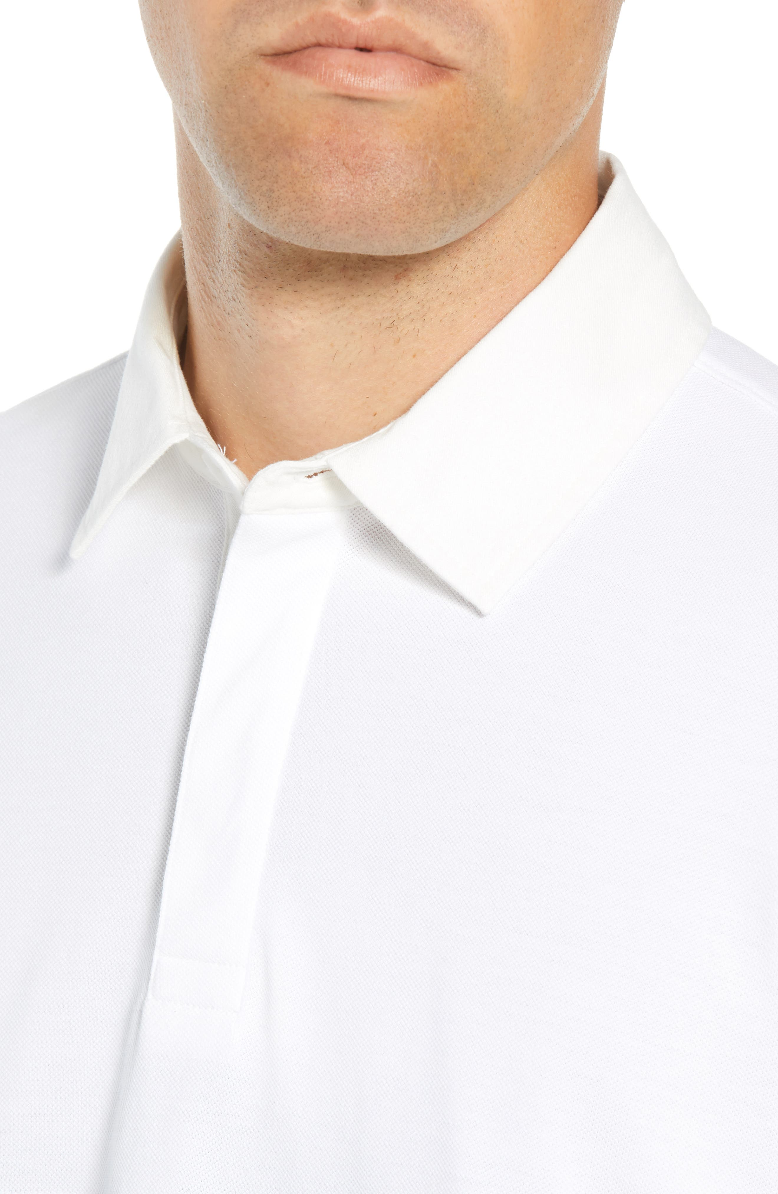 Regular Fit Rugby Piqué Polo,                             Alternate thumbnail 4, color,                             NAVY BLAZER WHITE