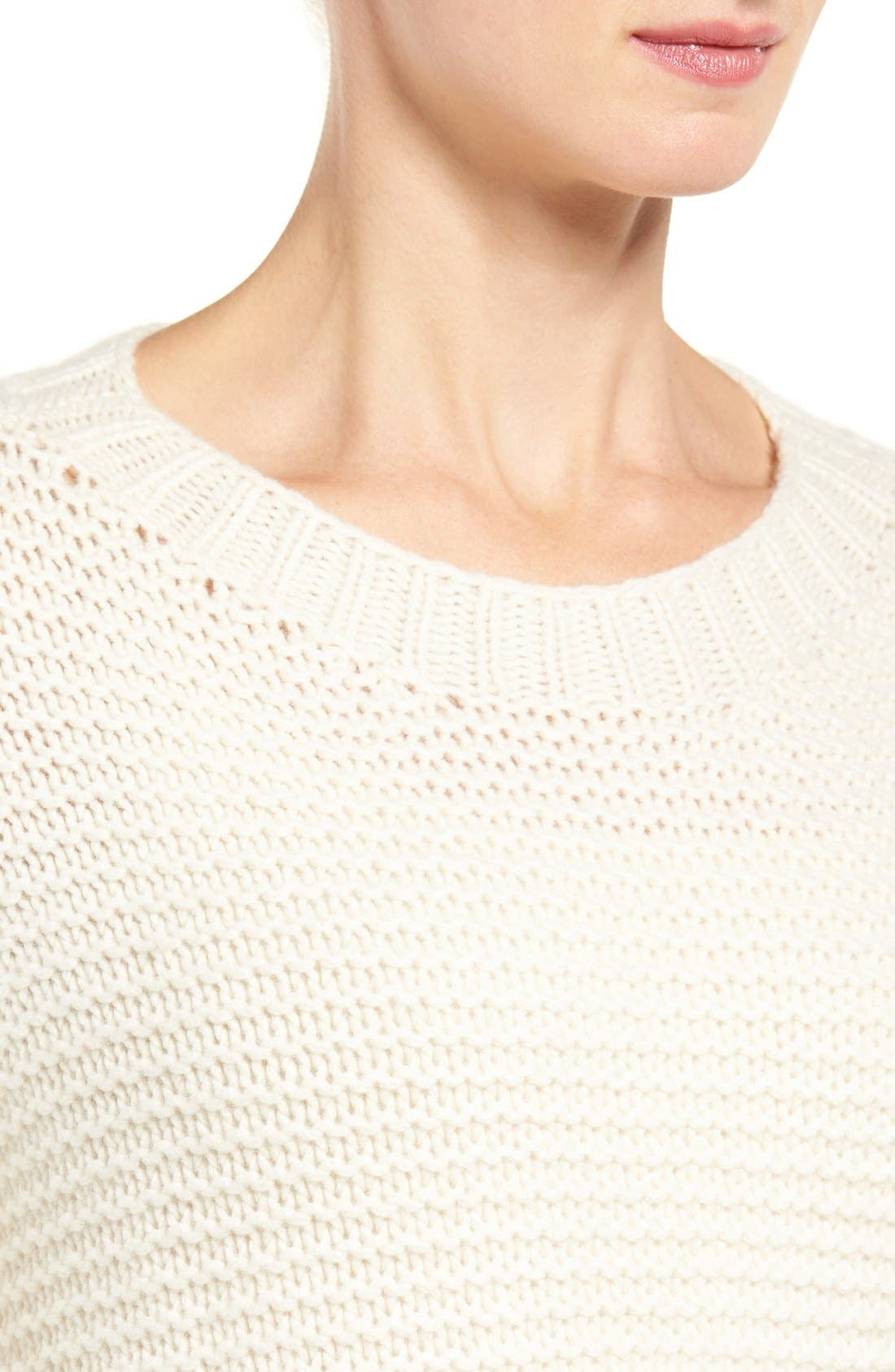 Lofty Recycled Cashmere Blend Sweater,                             Alternate thumbnail 4, color,                             103