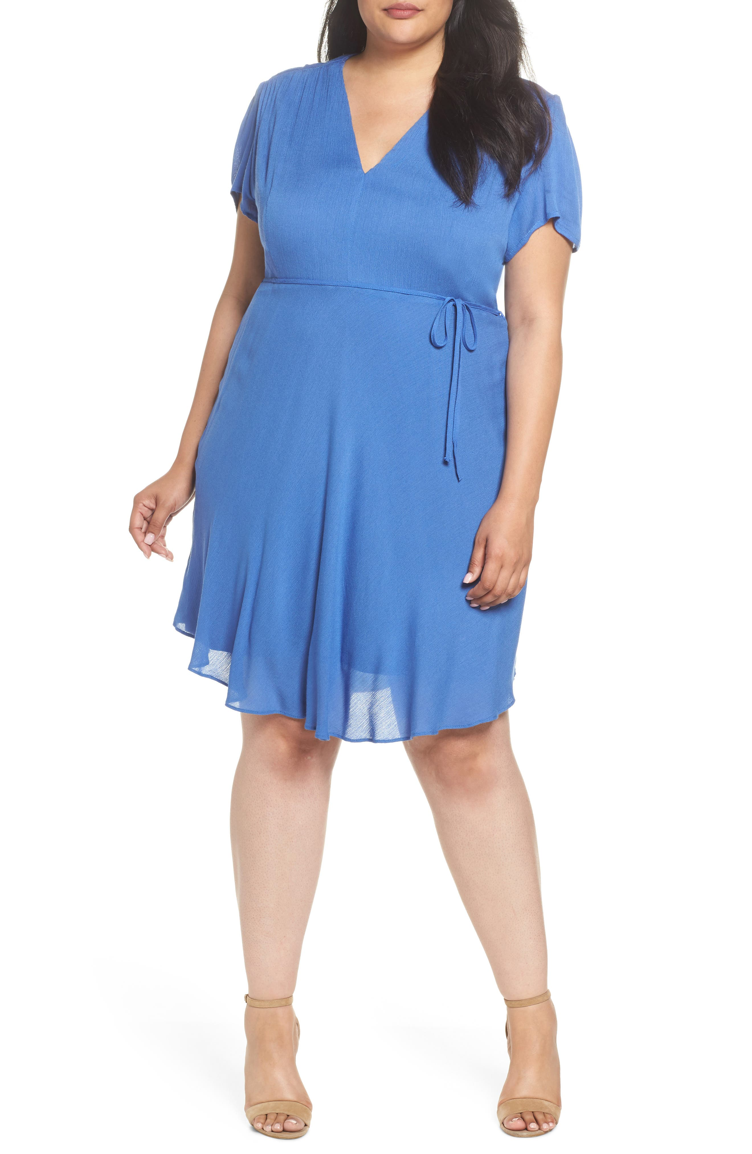 Tie Waist Tea Dress,                             Main thumbnail 1, color,