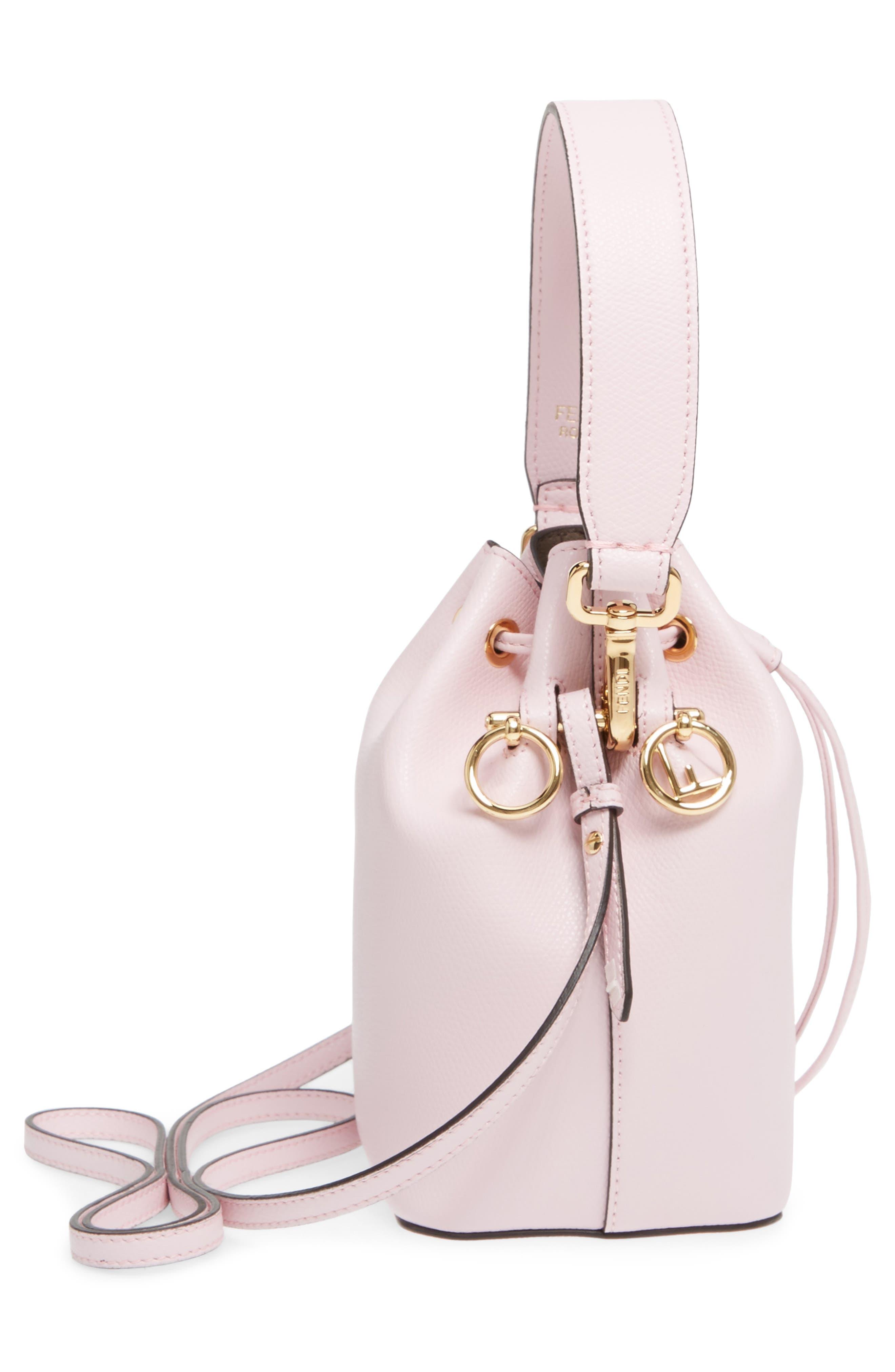 Mini Leather Bucket Bag,                             Alternate thumbnail 10, color,