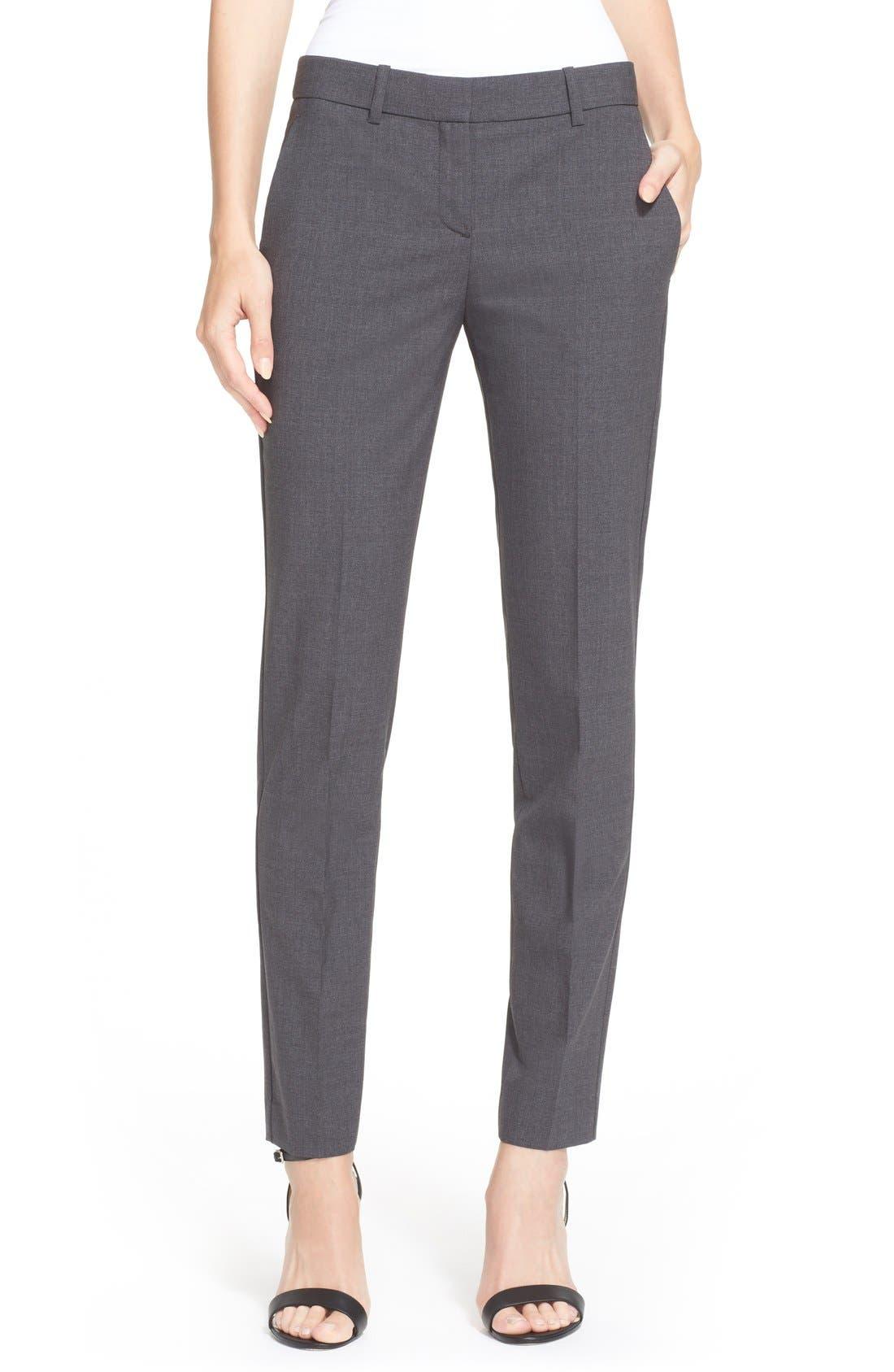 Testra 2B Stretch Wool Pants,                             Main thumbnail 1, color,                             020
