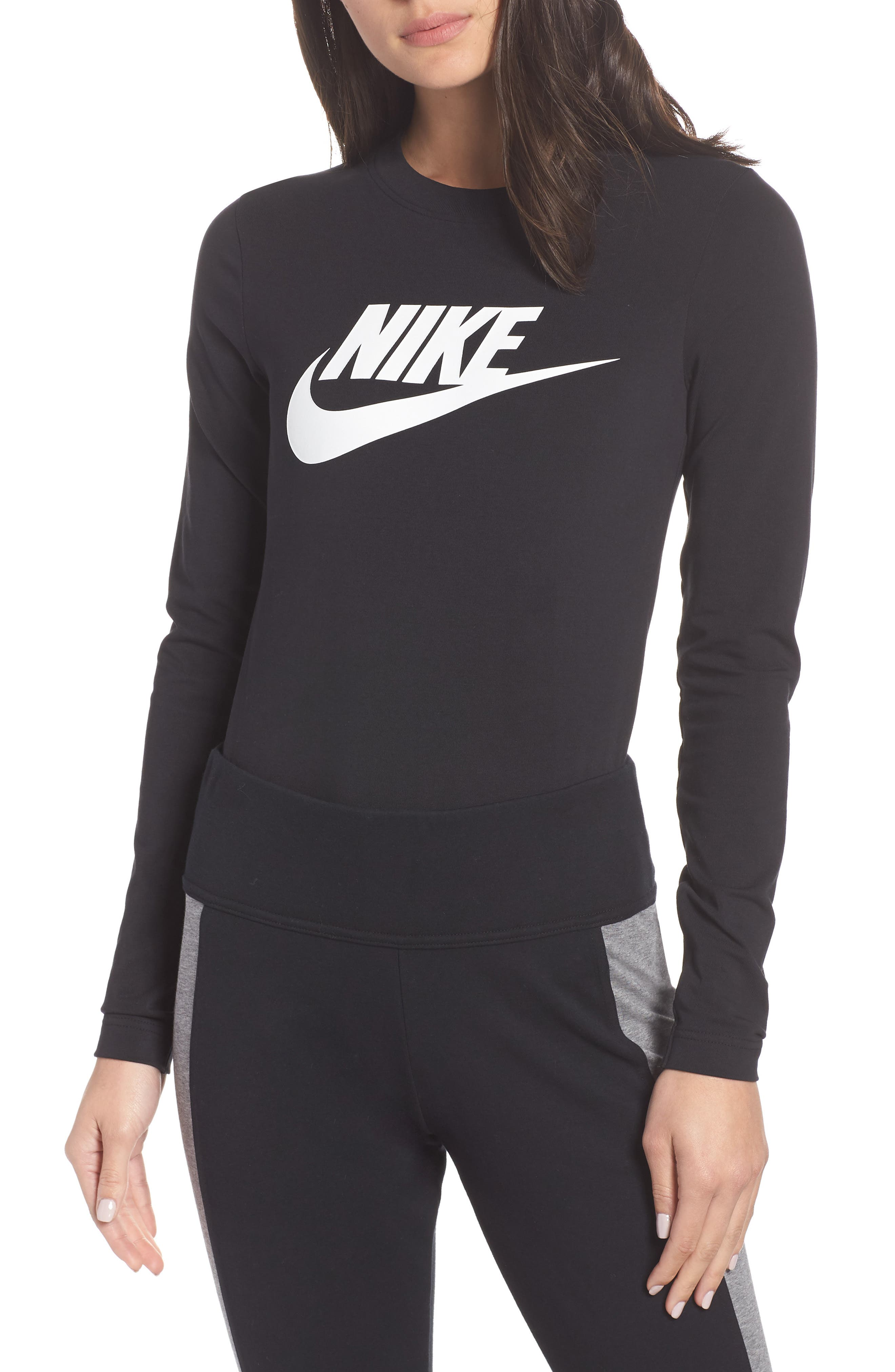 NSW Essential Bodysuit,                             Main thumbnail 1, color,                             BLACK/ BLACK/ WHITE