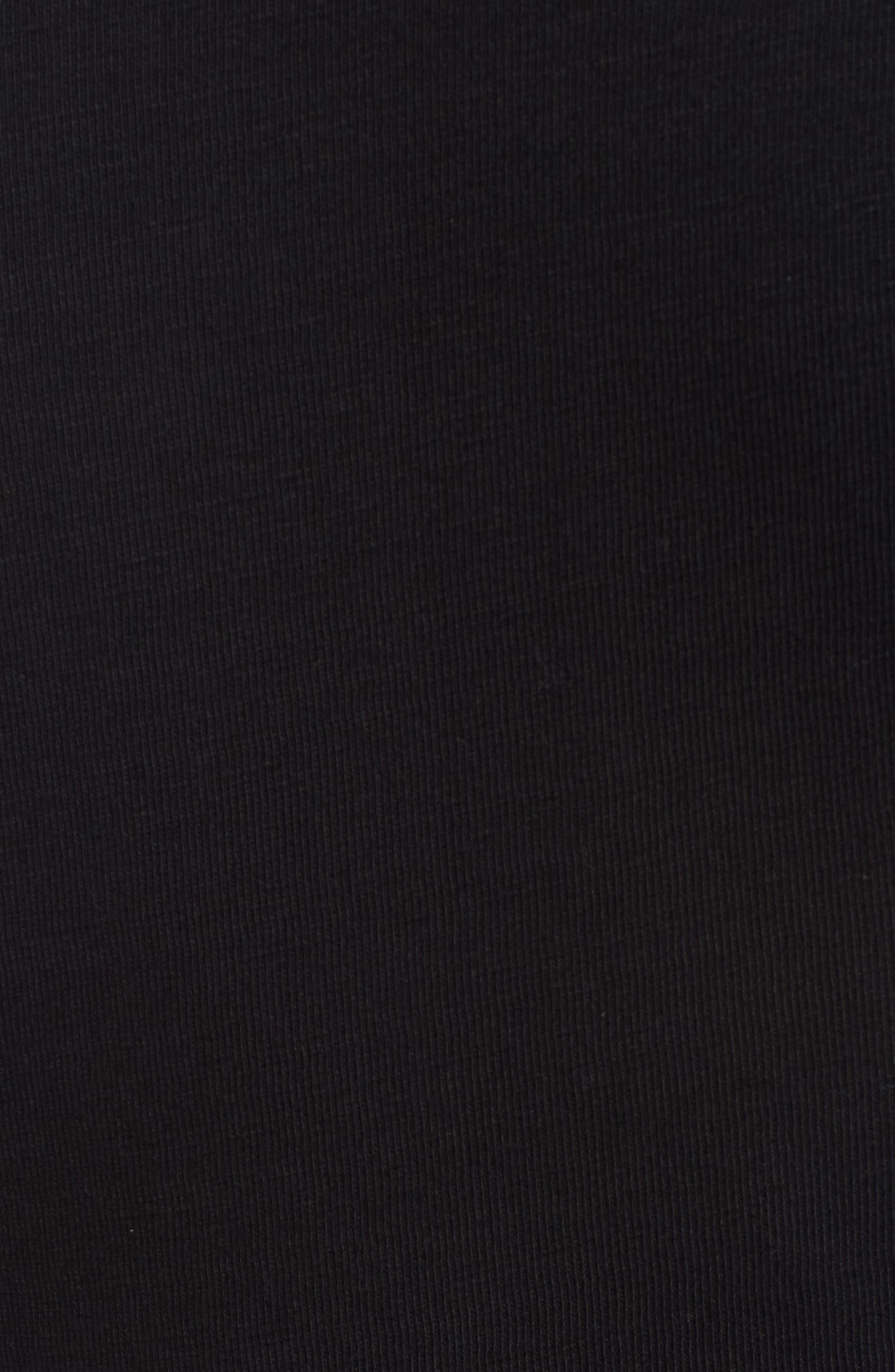 CASLON<SUP>®</SUP>,                             Knit One-Button Blazer,                             Alternate thumbnail 7, color,                             BLACK