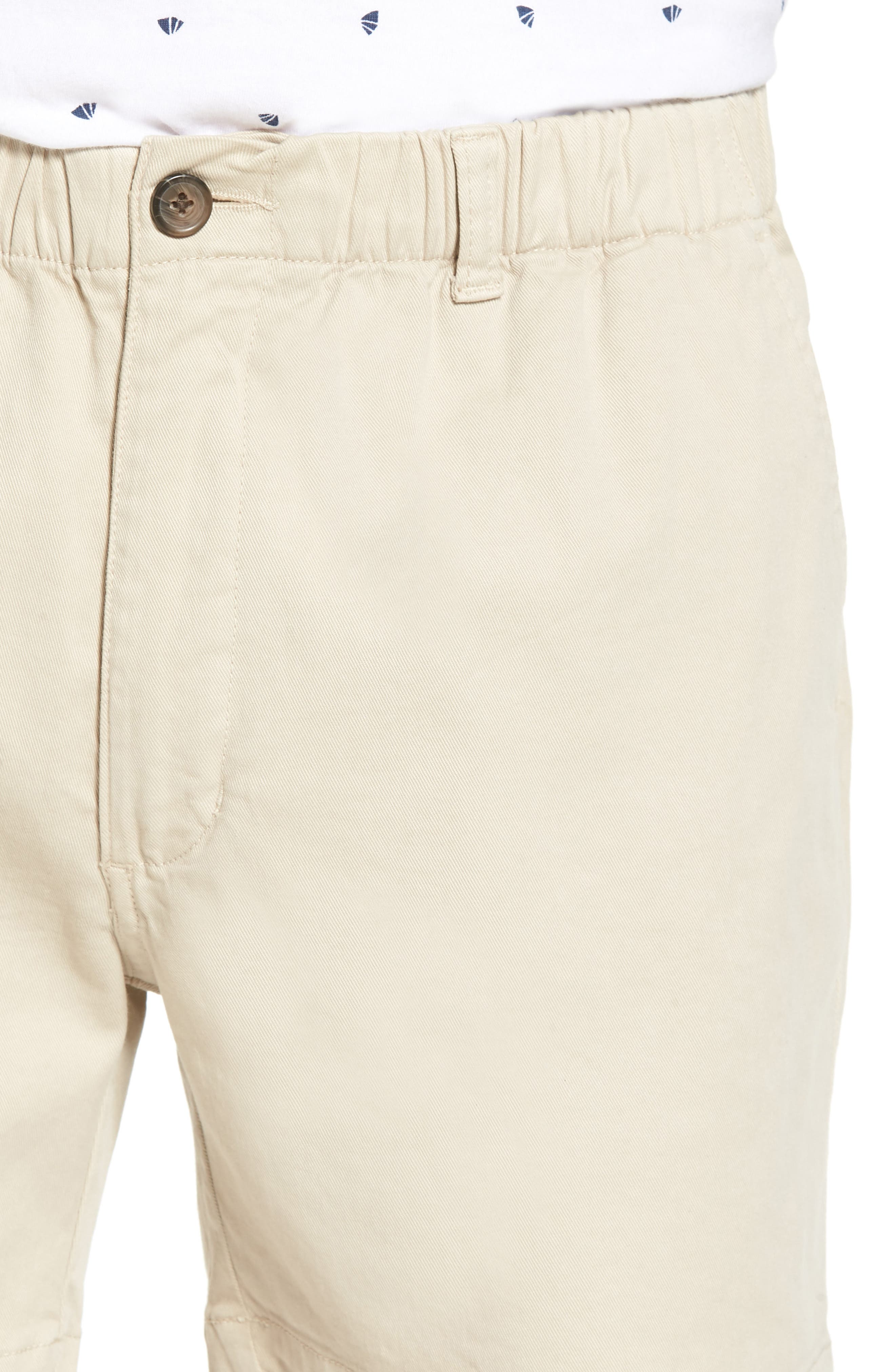 Snappers Elastic Waist 5.5 Inch Stretch Shorts,                             Alternate thumbnail 4, color,                             STONE