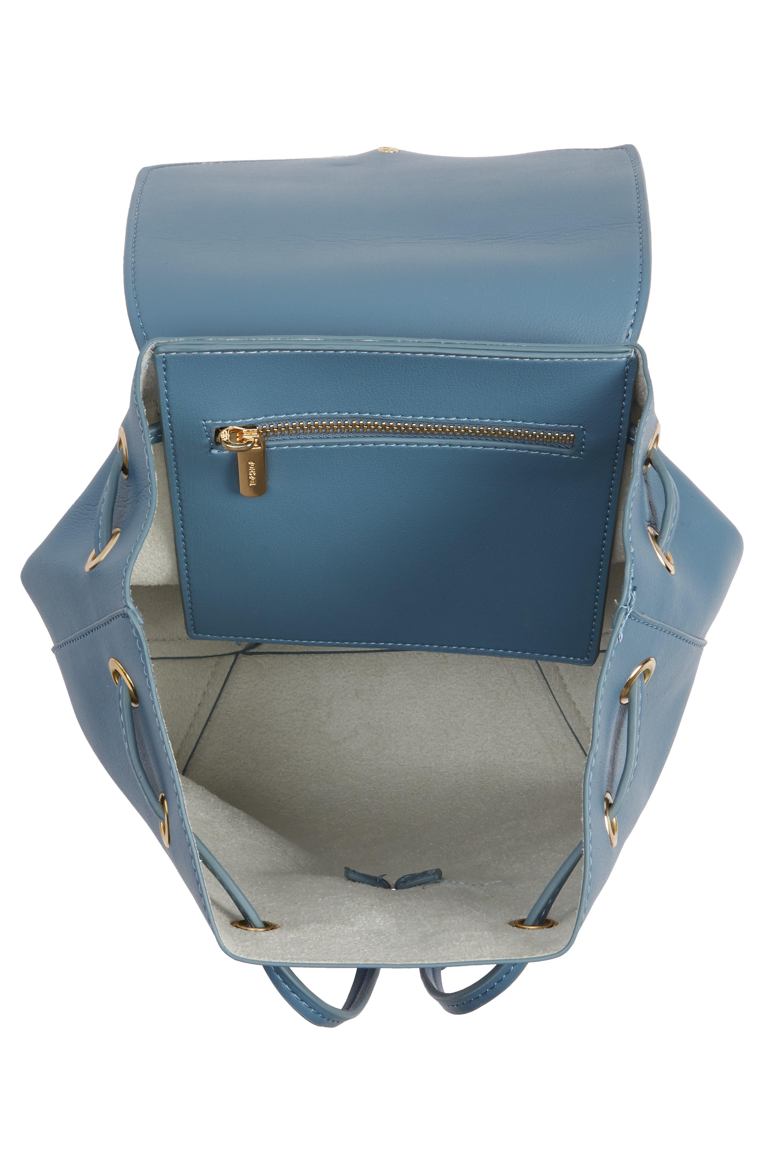 Blake Mini Faux Leather Backpack,                             Alternate thumbnail 8, color,