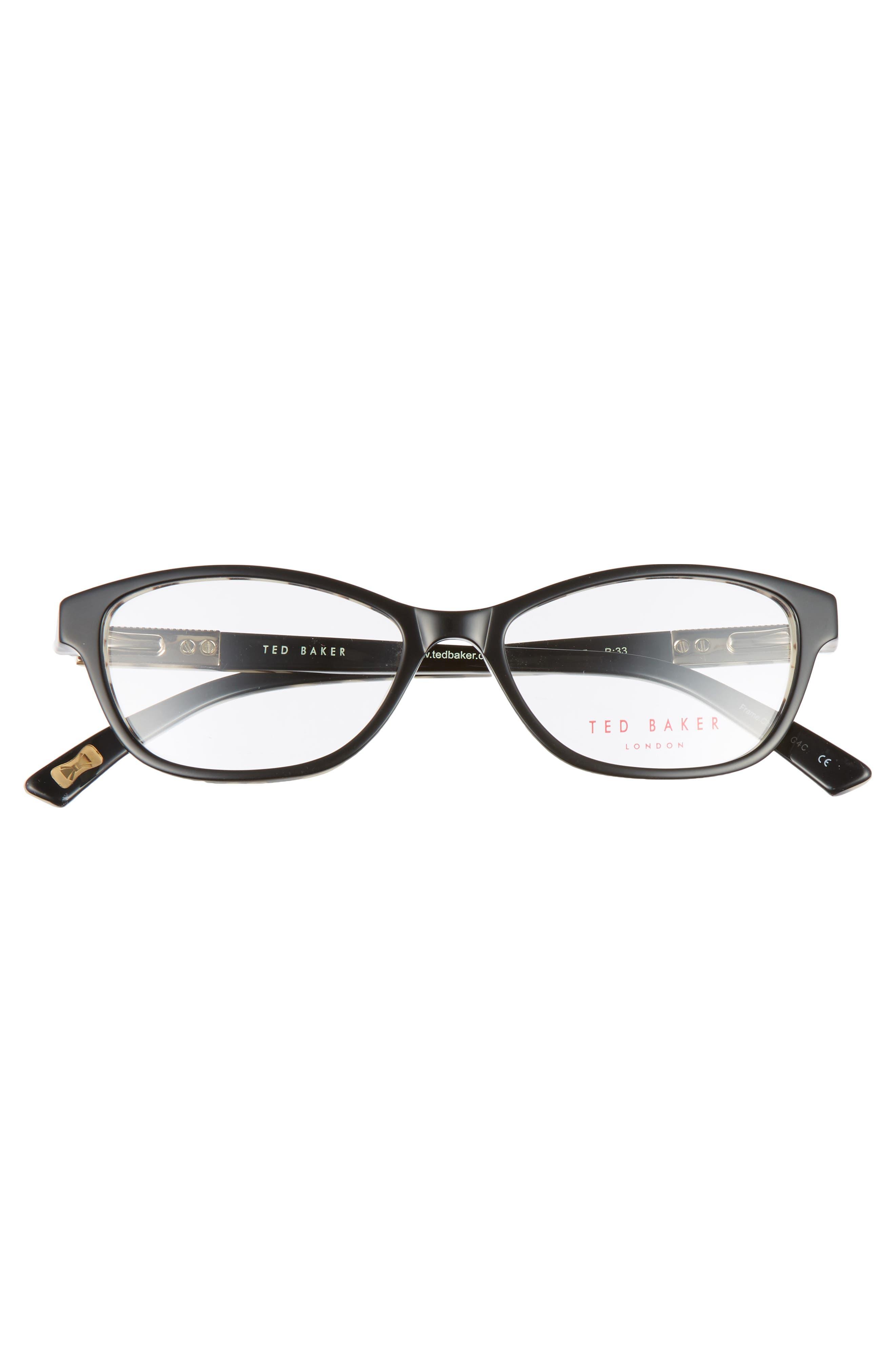 50mm Optical Cat Eye Glasses,                             Alternate thumbnail 3, color,                             001