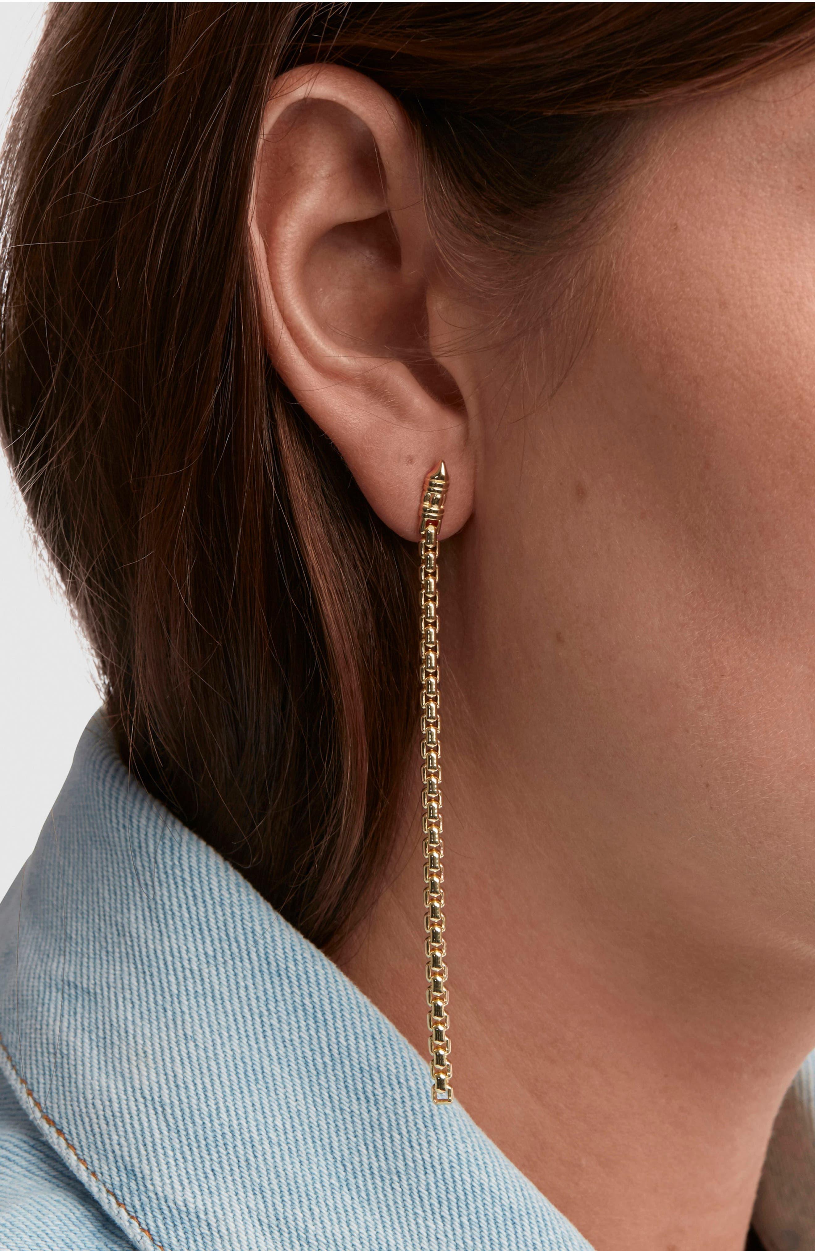 Venetian Chain Link Drop Earrings,                             Alternate thumbnail 2, color,                             040