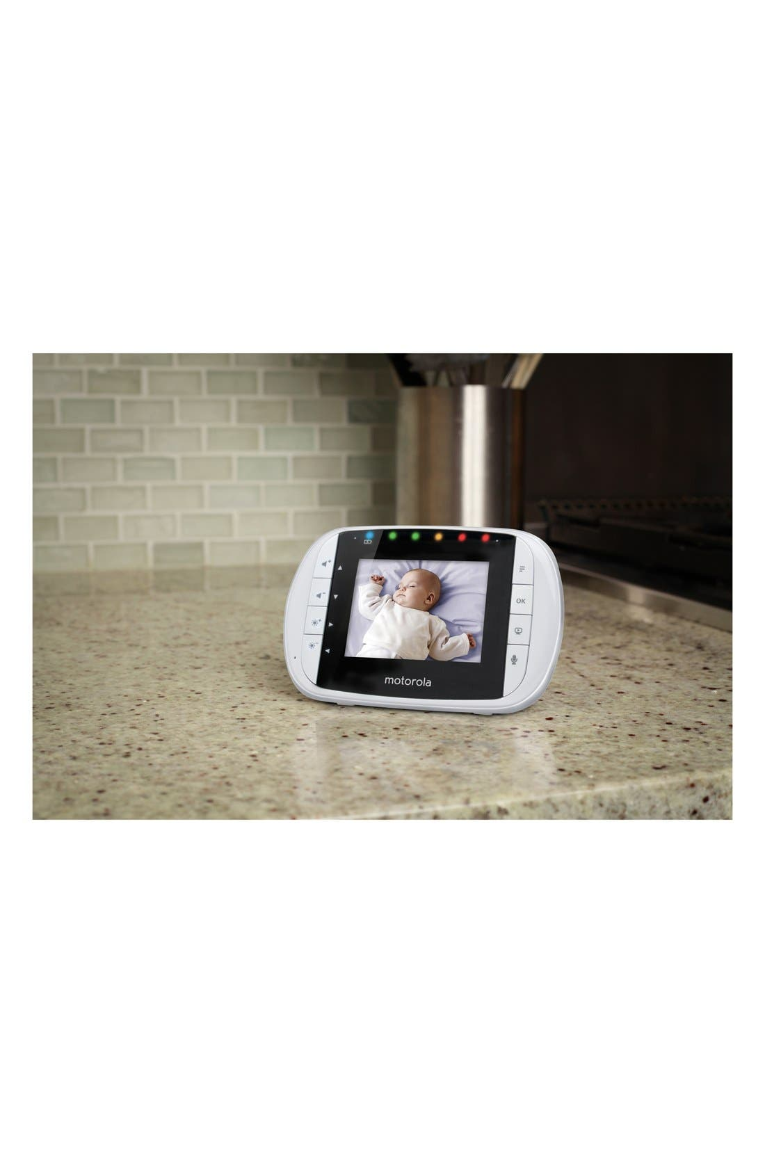 MBP 33S Wireless Digital Video Baby Monitor,                             Alternate thumbnail 3, color,                             WHITE/ SILVER TRIM