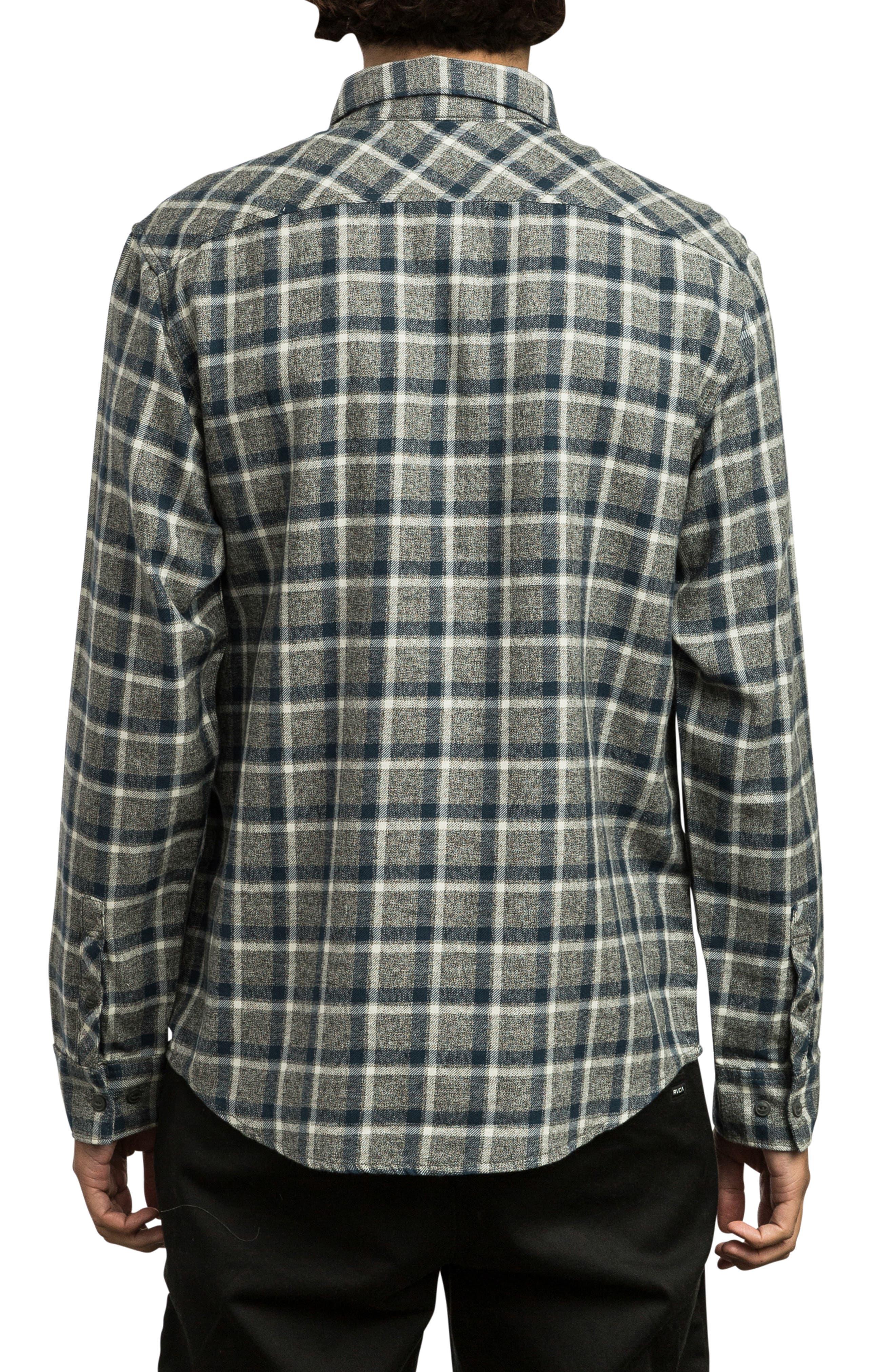 Hero Flannel Shirt,                             Alternate thumbnail 2, color,                             PIRATE BLACK