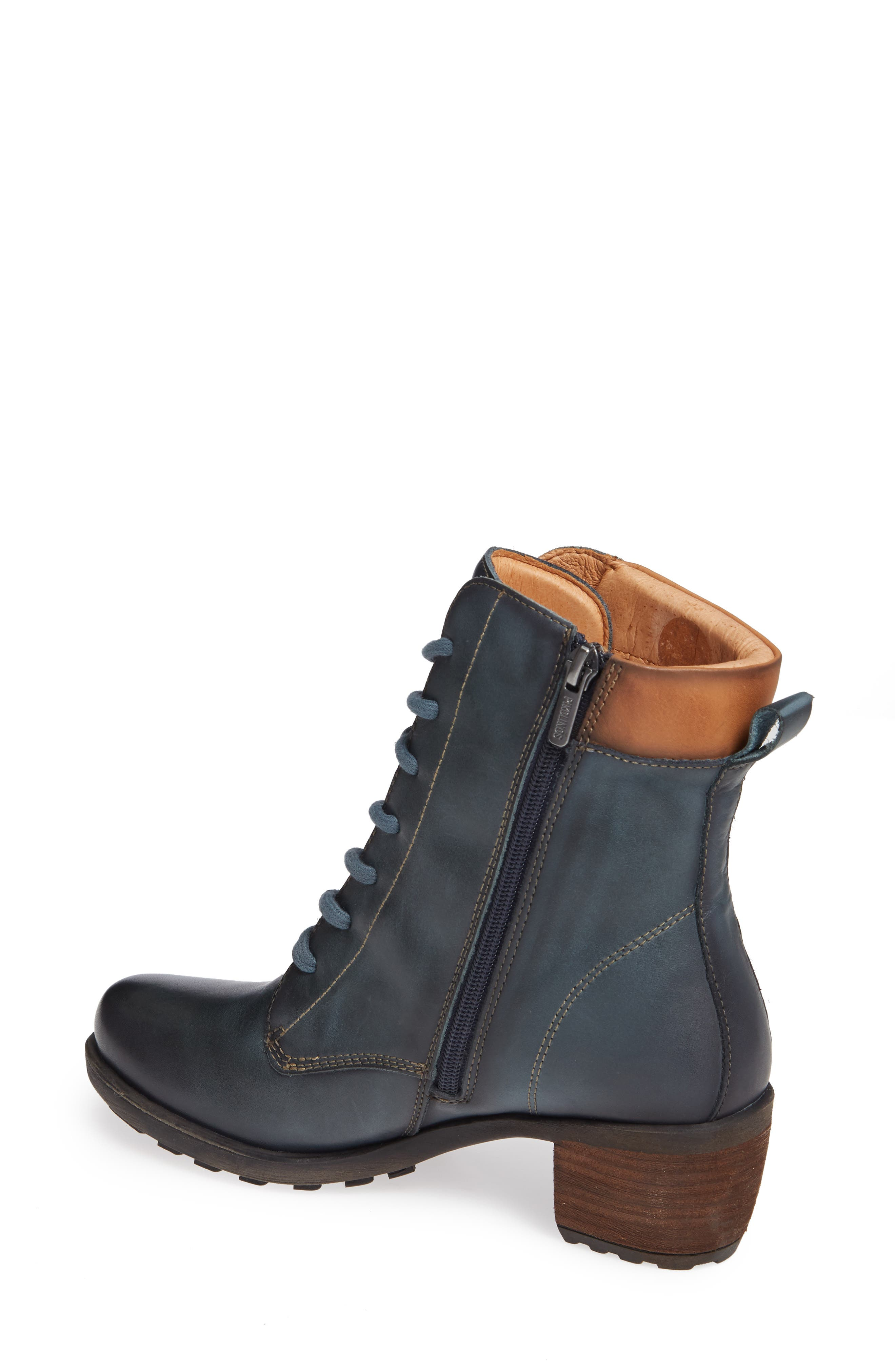 Le Mans Embroidered Lace-Up Bootie,                             Alternate thumbnail 2, color,                             OCEAN LEATHER