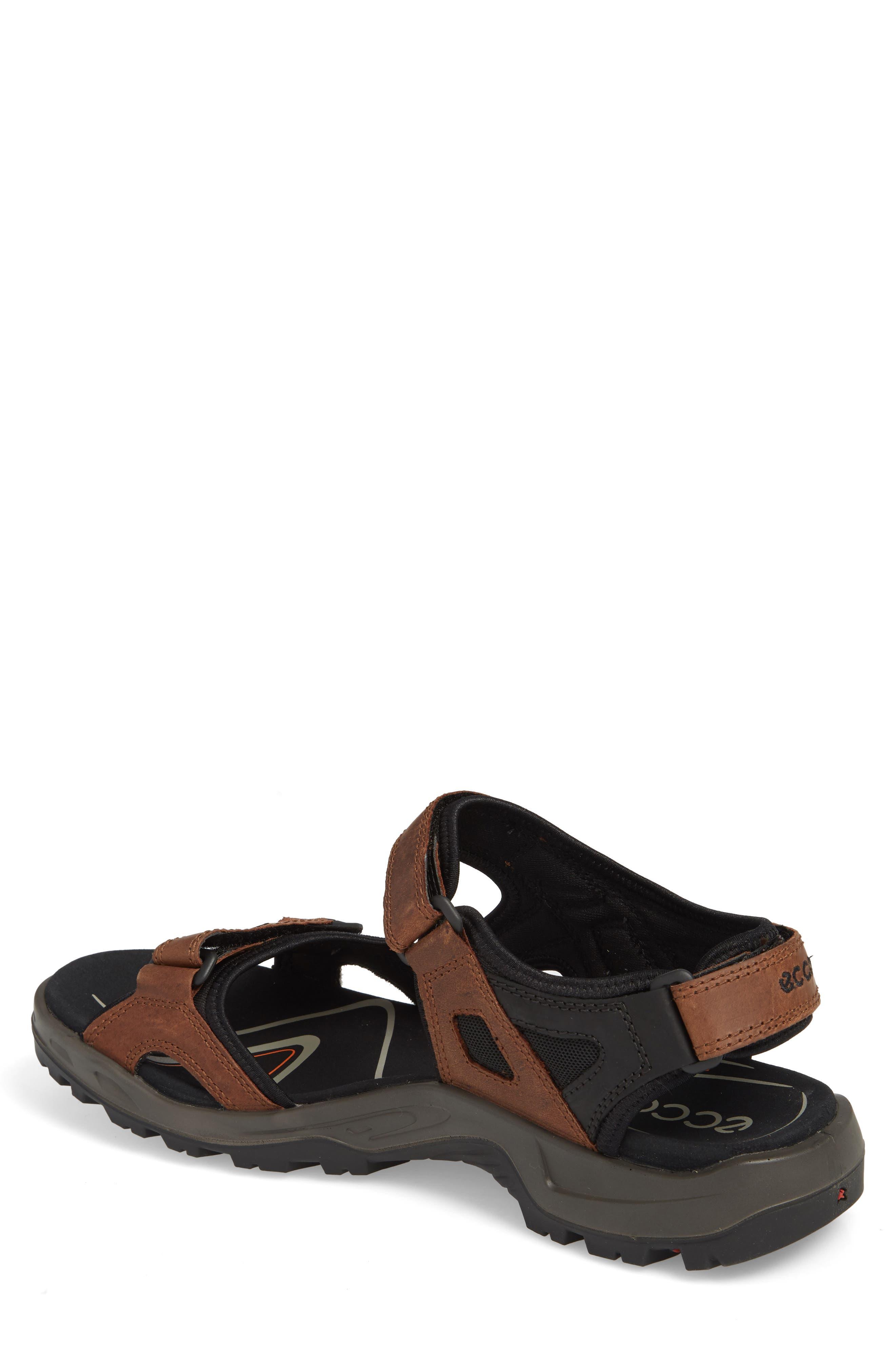 'Yucatan' Sandal,                             Alternate thumbnail 3, color,                             BROWN/BLACK