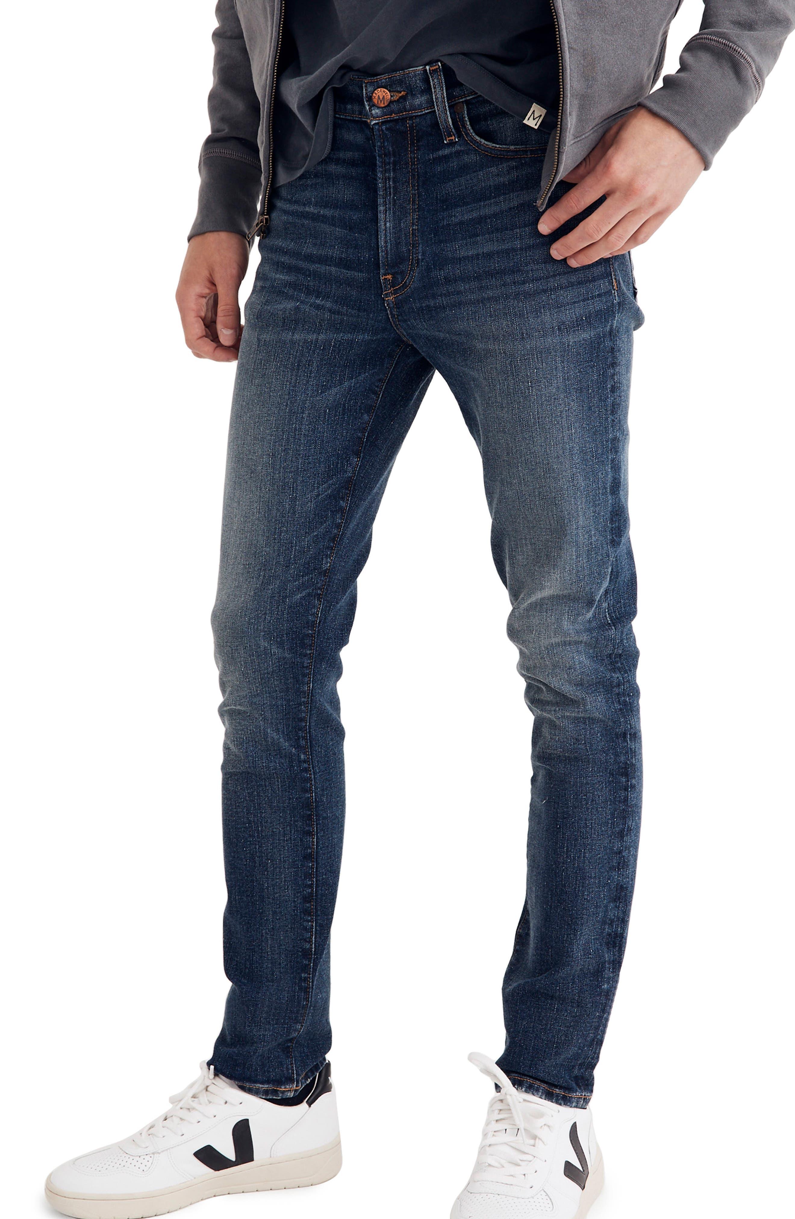 Skinny Fit Jeans,                             Main thumbnail 1, color,                             MEDIUM WASH