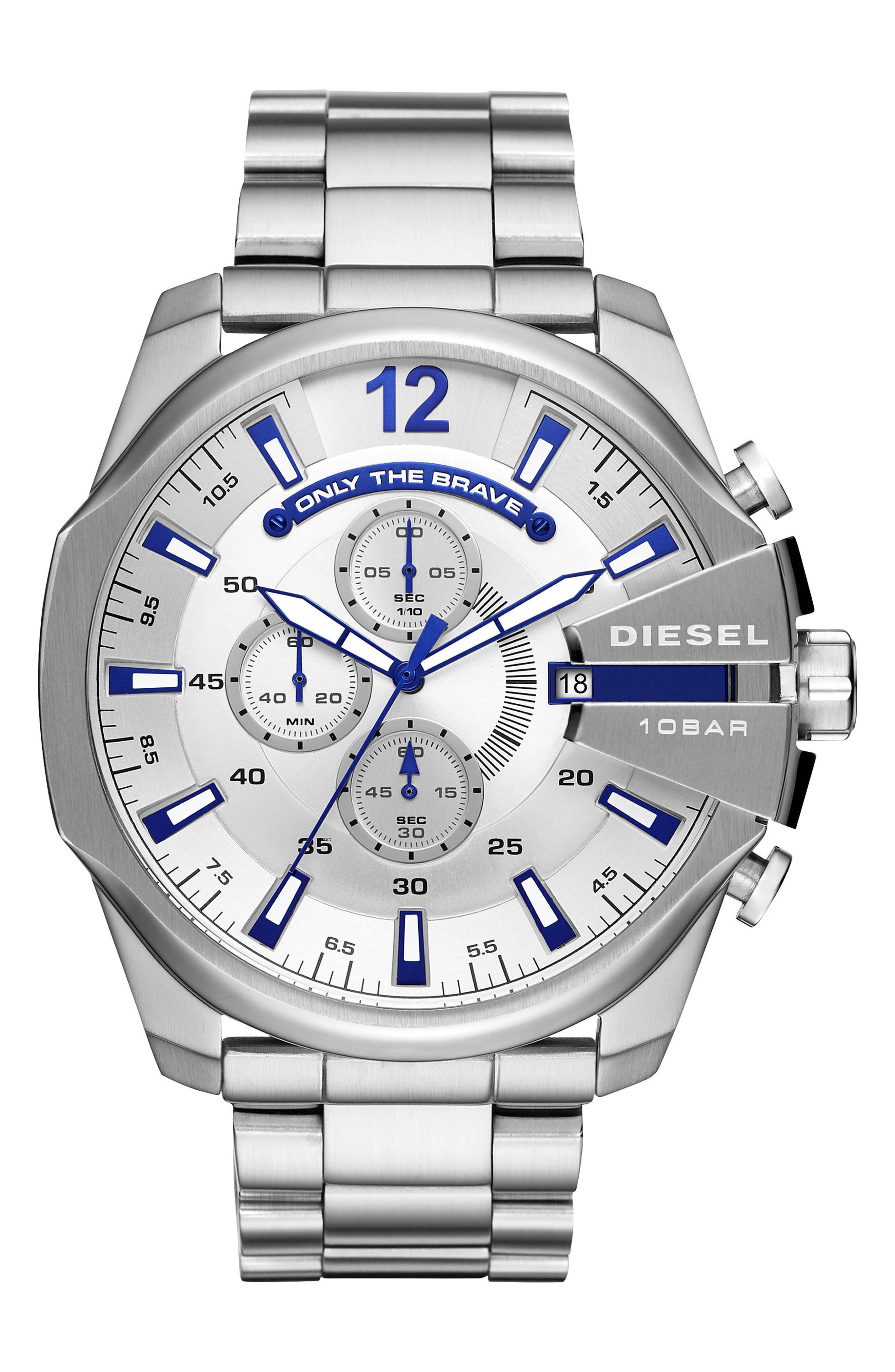 Mega Chief Chronograph Bracelet Watch, 51mm,                             Main thumbnail 1, color,                             042