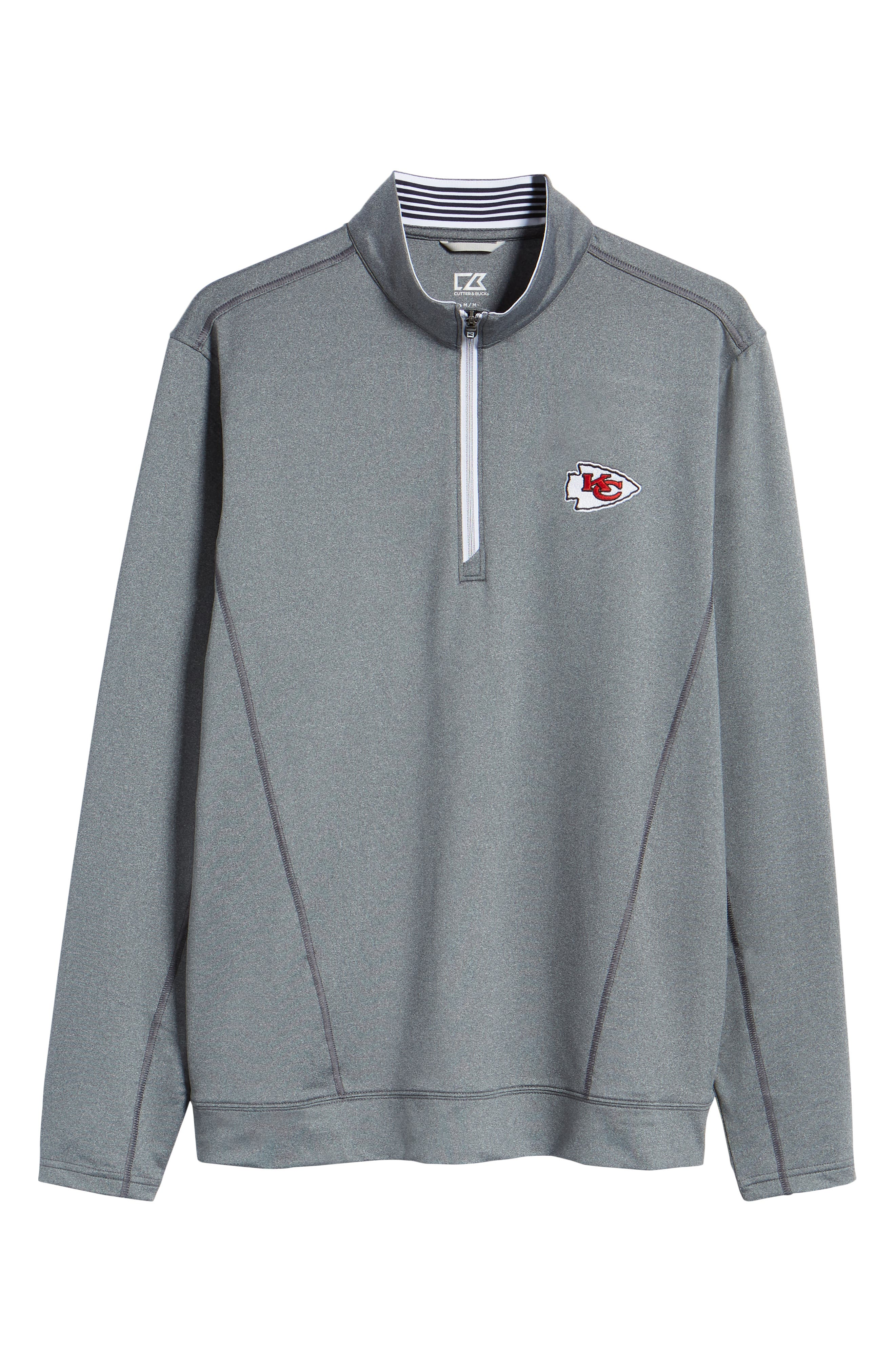 Endurance Kansas City Chiefs Regular Fit Pullover,                             Alternate thumbnail 6, color,                             CHARCOAL HEATHER