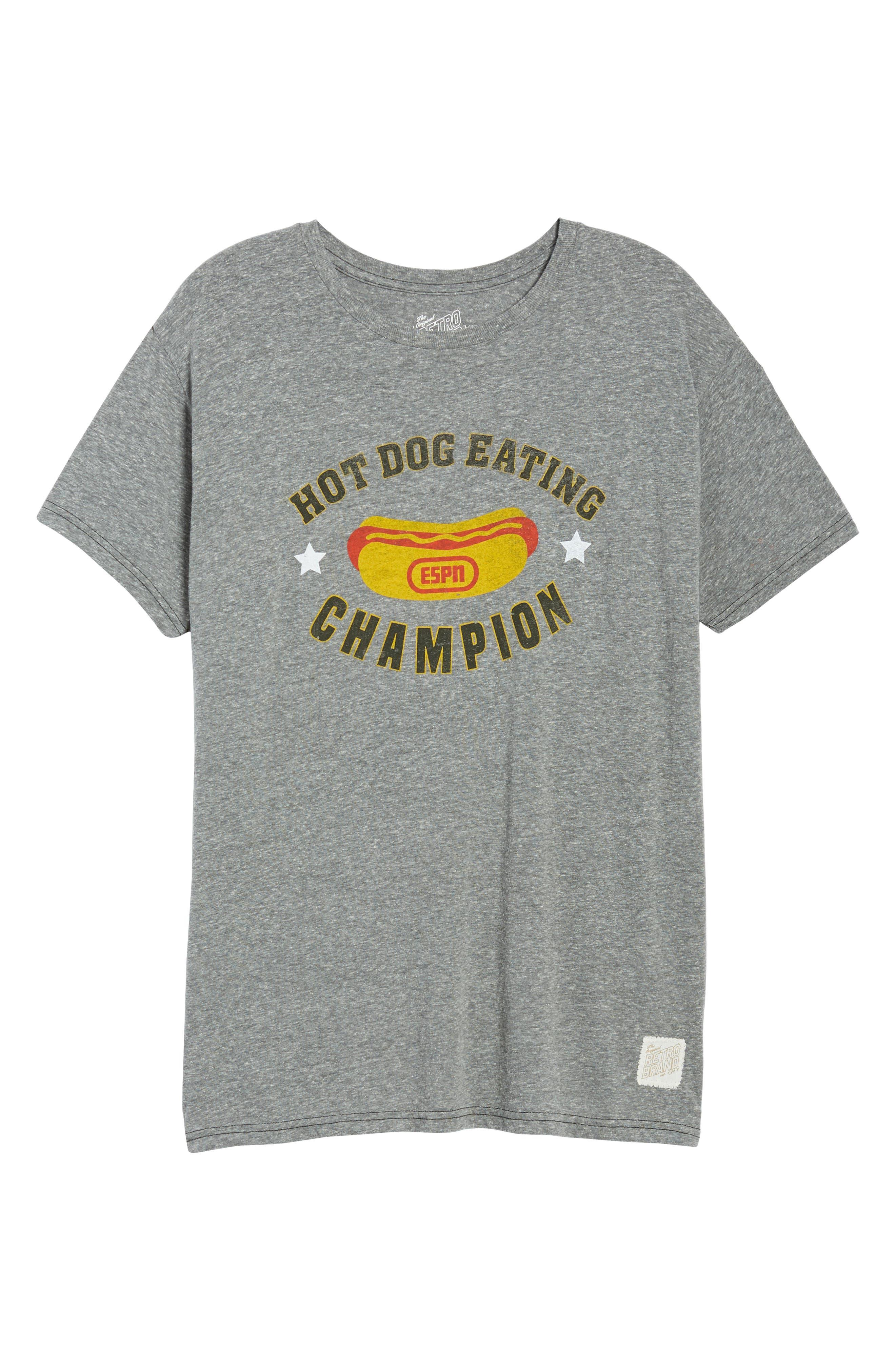 The Original Retro Brand Hot Dog Eating Champion T-Shirt,                             Alternate thumbnail 6, color,                             020